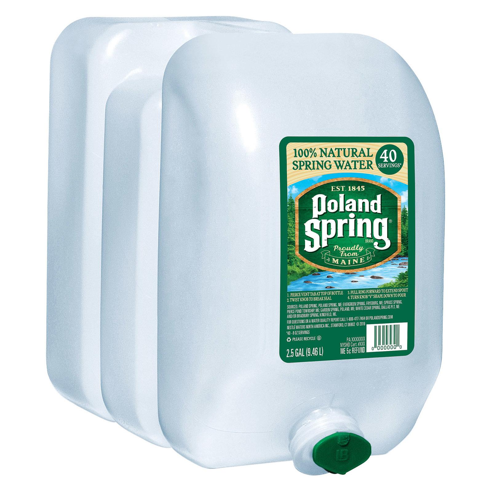 Poland Spring Water - Original - Case of 2 - 2.5 Gal