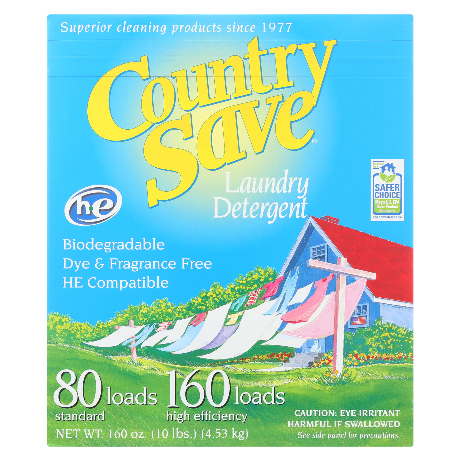 Country Save Laundry Detergent - Powder - Case of 4 - 10 lb.