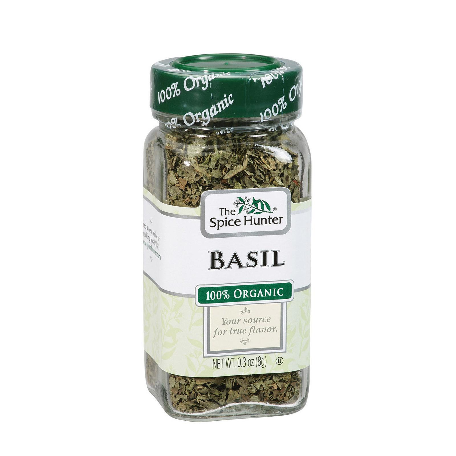 Spice Hunter 100% Organic Spice - Basil - Case of 6 - .3 oz
