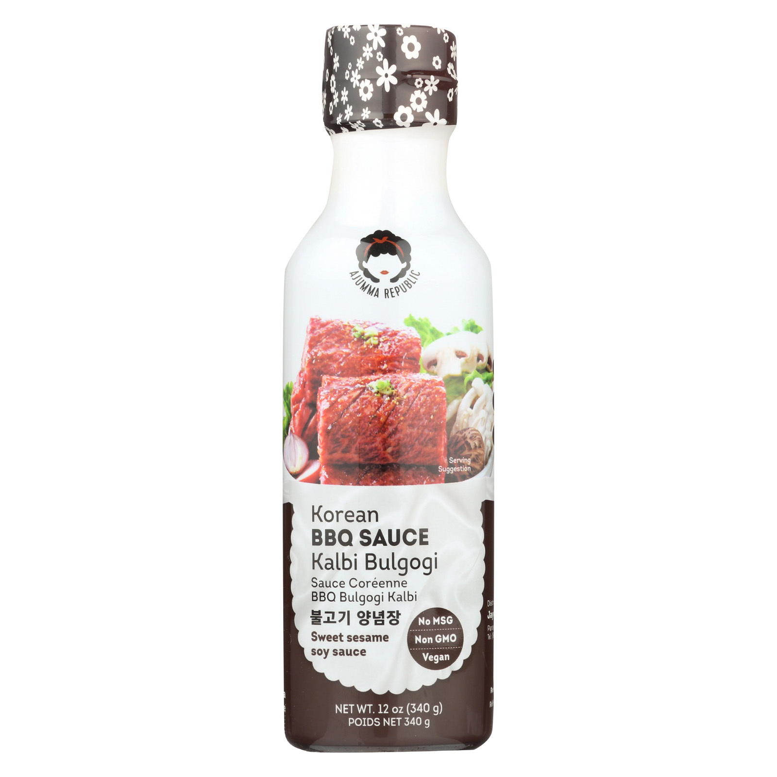 J1 Bulgogi & Kalbi BBQ Sauce - Case of 6 - 12 fl oz