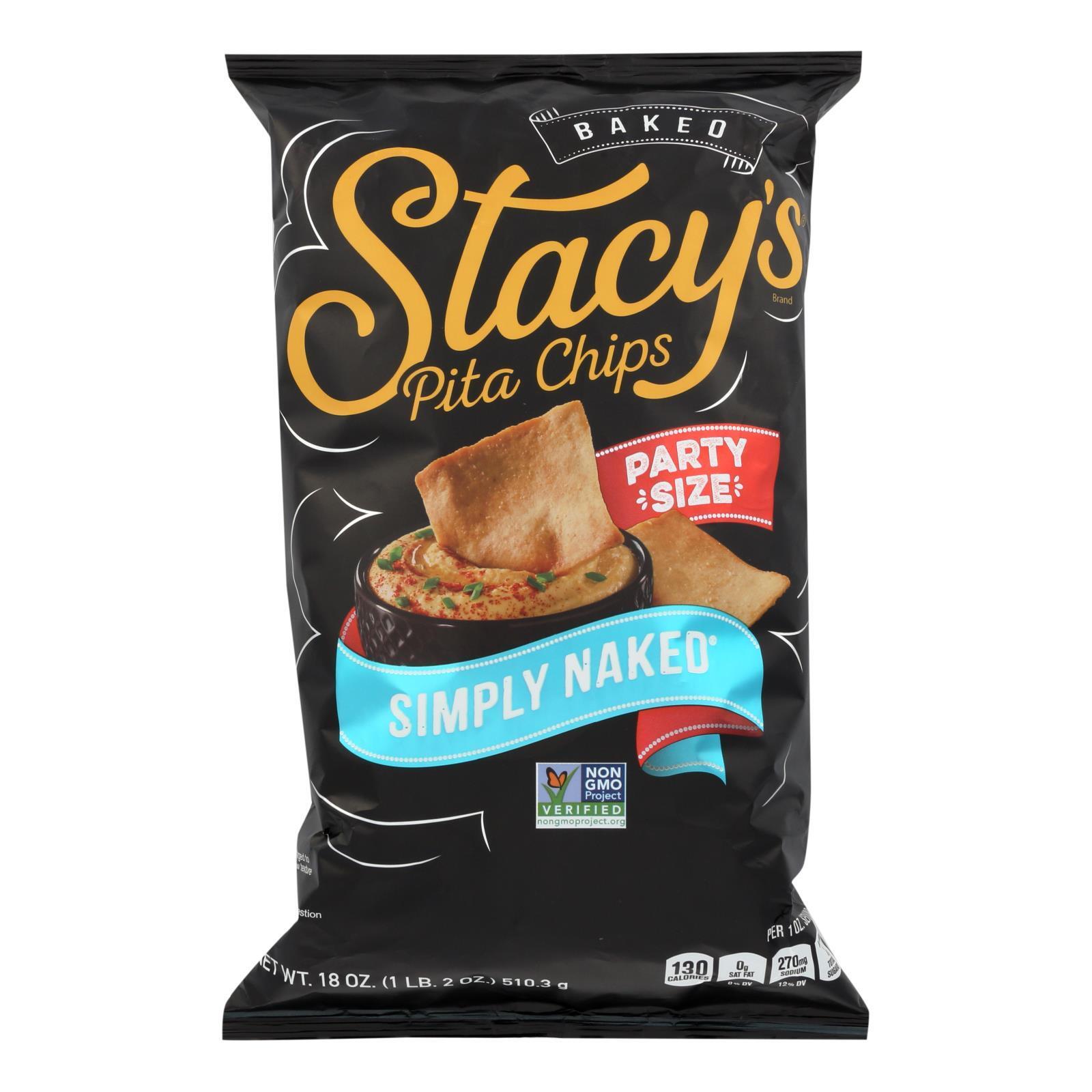 Stacy's Pita Chips Simply Naked Pita Chips - Case of 6 - 18 oz.