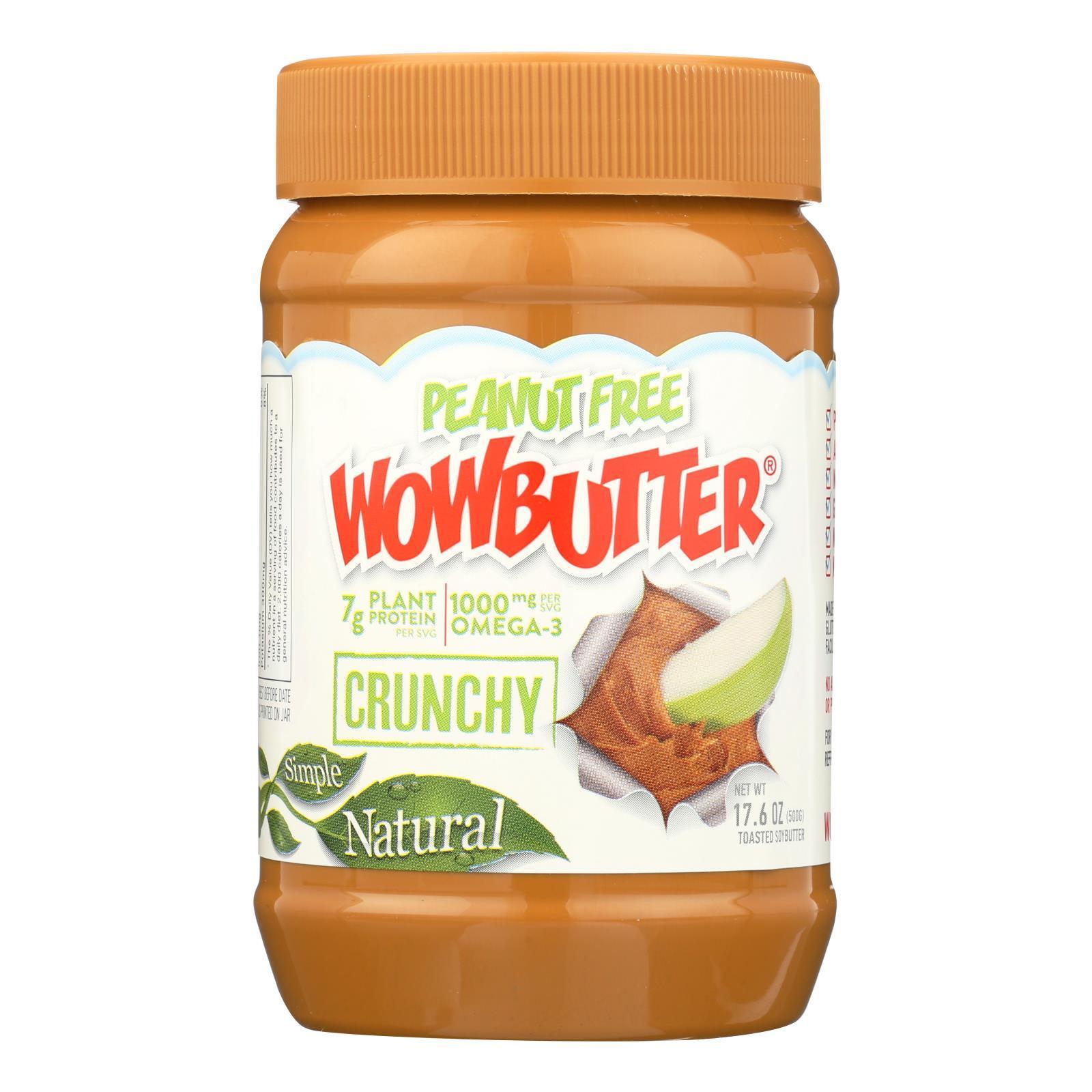 WOWBUTTER Crunchy Peanut Free Spread - Case of 6 - 17.6 oz.