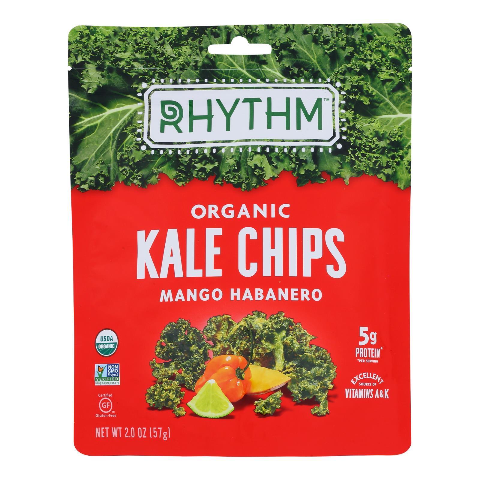 Rhythm Superfoods Kale Chips - Mango Habanero - Case of 12 - 2 oz.