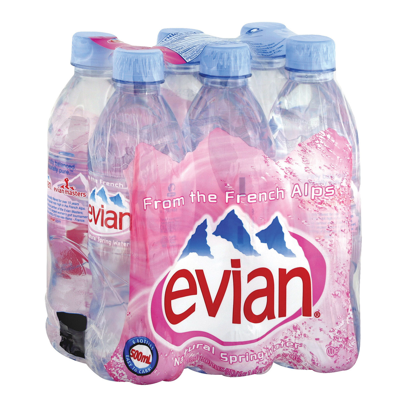 Evians Spring Water Natural Spring Water - Case of 4 - 16.9 FL oz.