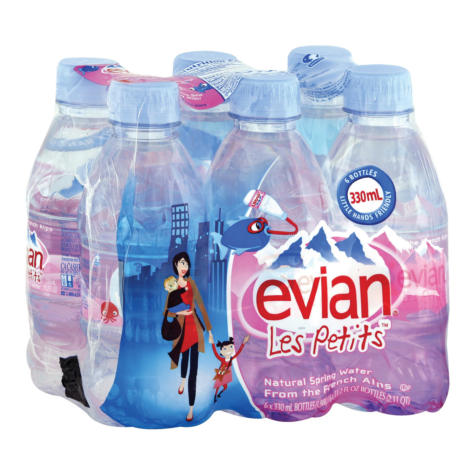 Evians Spring Water Spring Water - Natural - Case of 4 - 6/11.2fl oz