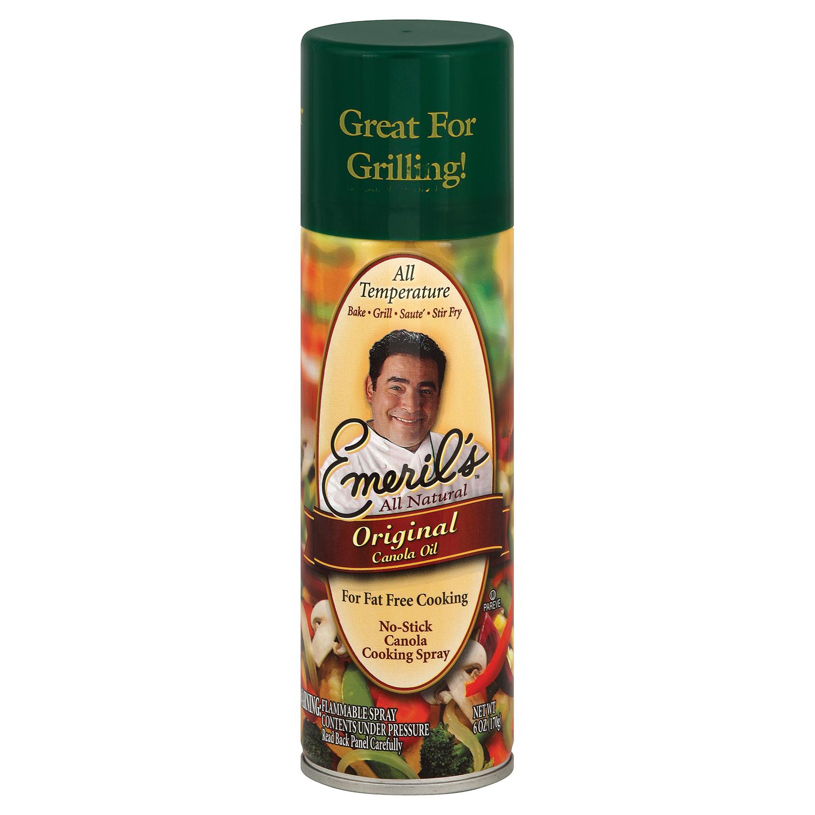 Emeril Cooking Spray - Original Canola - Case of 6 - 6 oz.