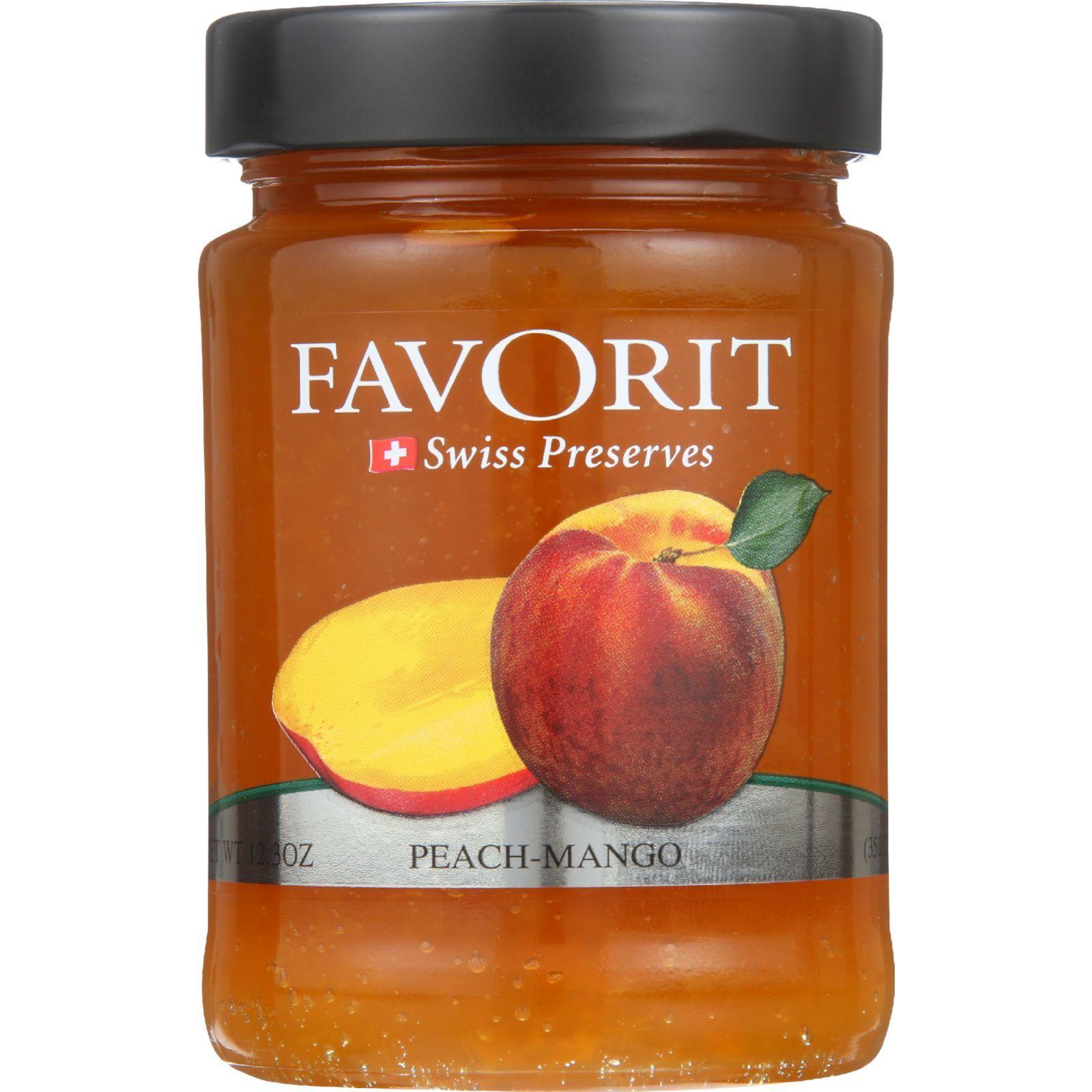 Favorit Preserves - Swiss - Peach-Mango - 12.3 oz - case of 6
