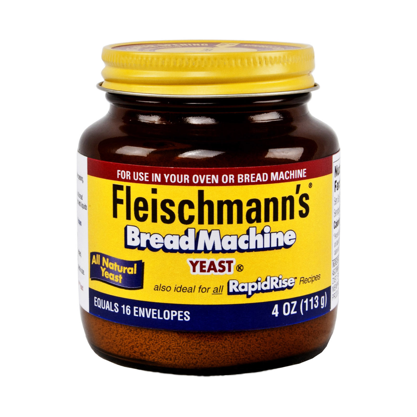 Fleischmann's Classic Bread Machine Yeast - Case of 12 - 4 oz.