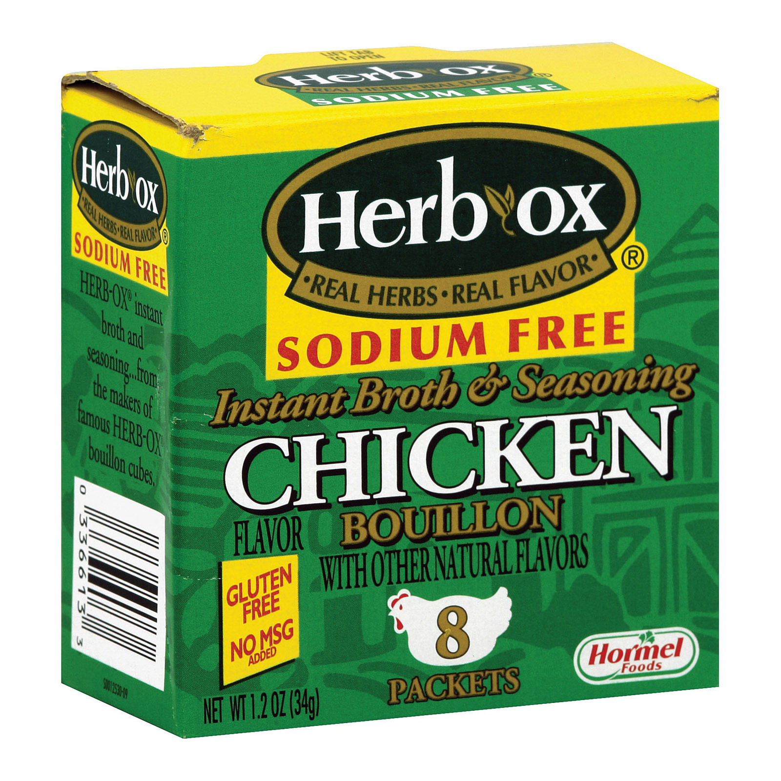 Herb-Ox Boullion - Chicken - Low Sodium - Case of 12 - 8 count