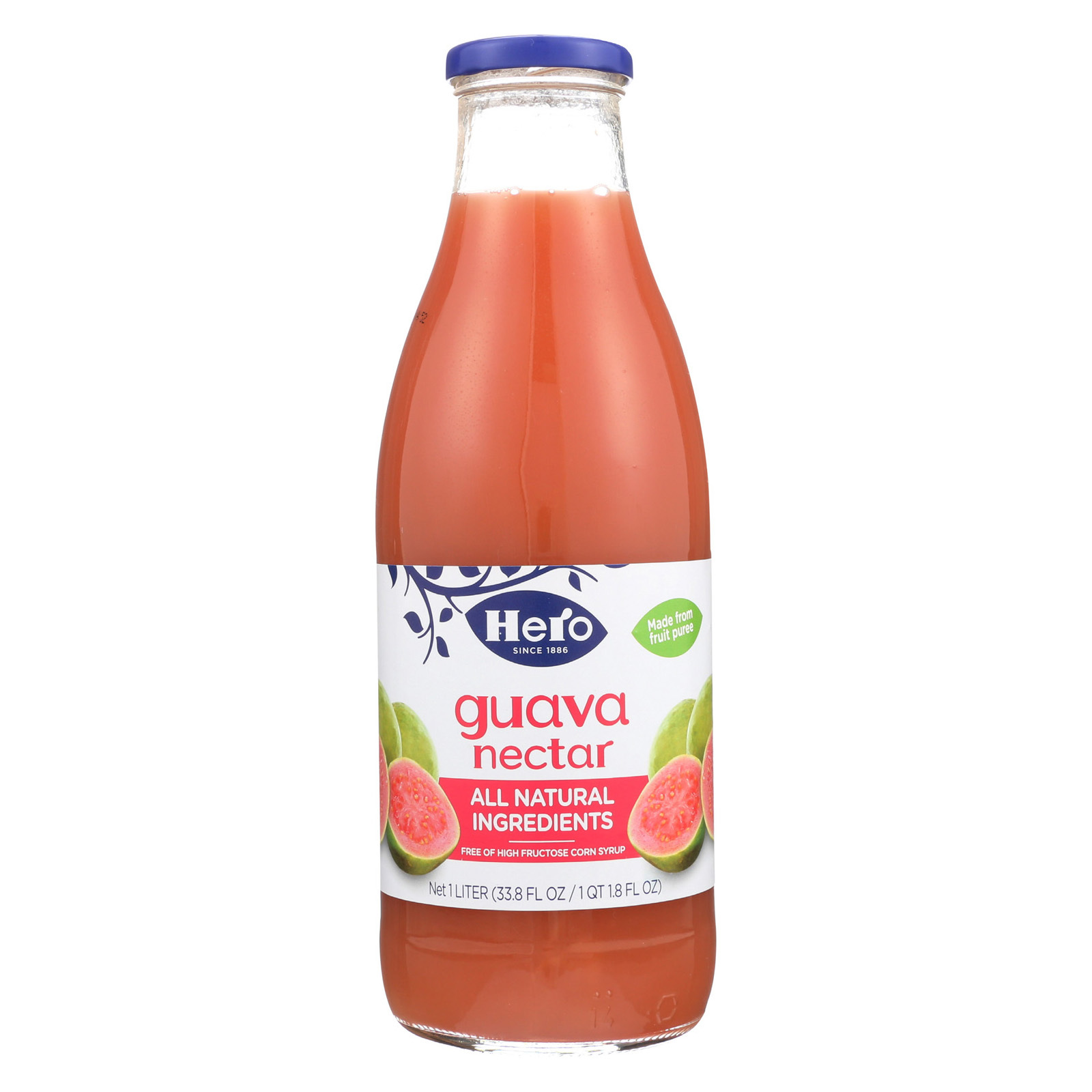 Hero Preserves - Guava Nectar - Case of 6 - 33.8 oz