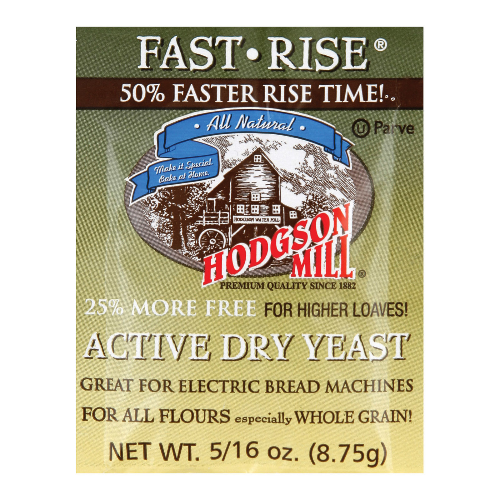 Hodgson Mills Baking - Yeast - Fast Rise - Case of 48 - .35 oz