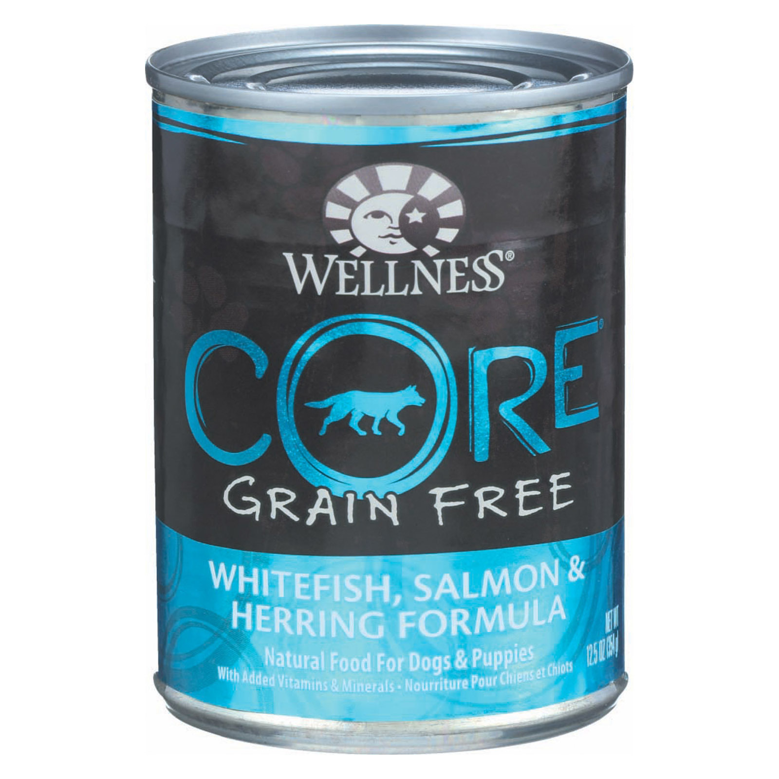 Wellness Pet Products Dog Food - Whitefish - Salmon and Herring - Case of 12 - 12.5 oz.