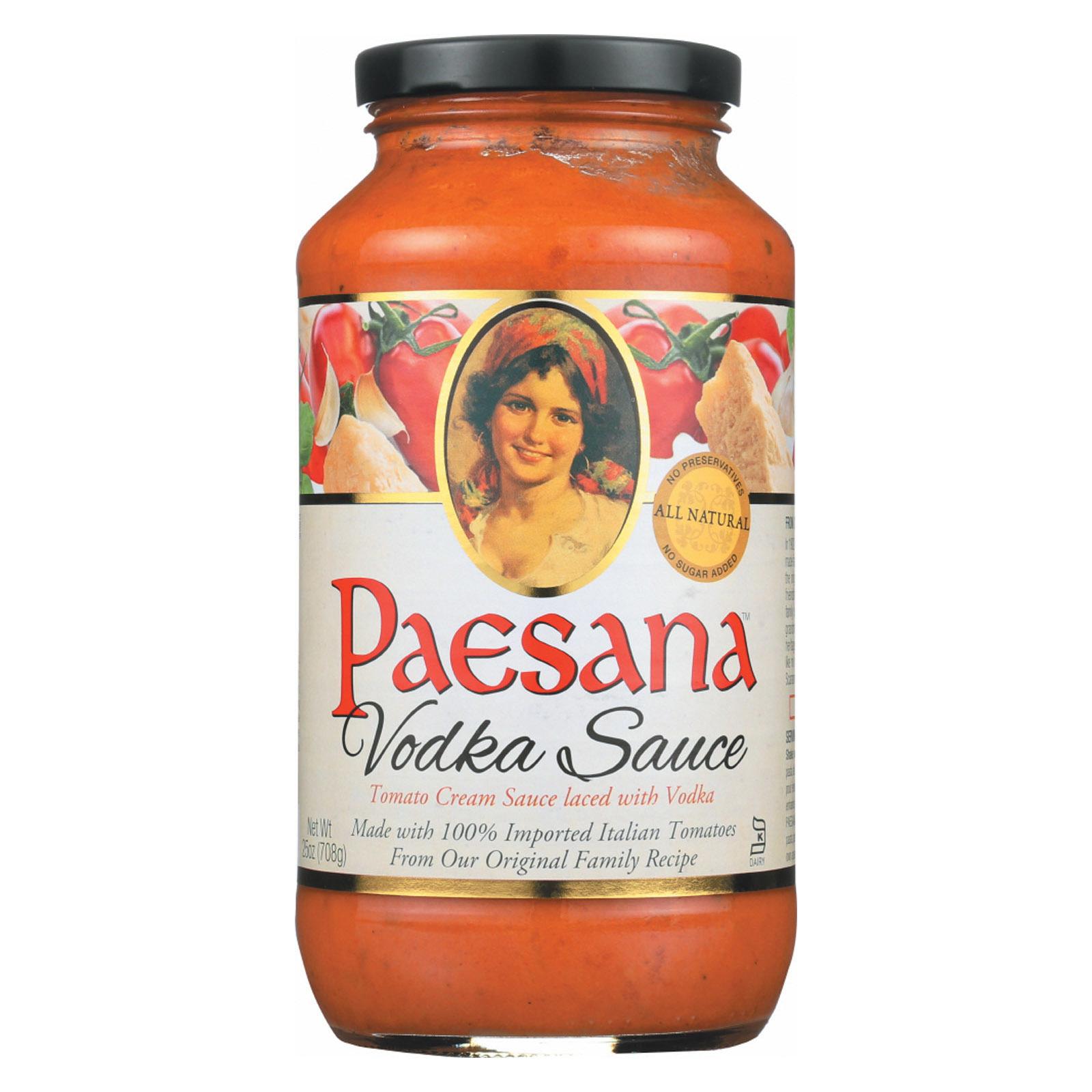 Paesana Pasta Sauce - Vodka - Case of 6 - 25 Fl oz.