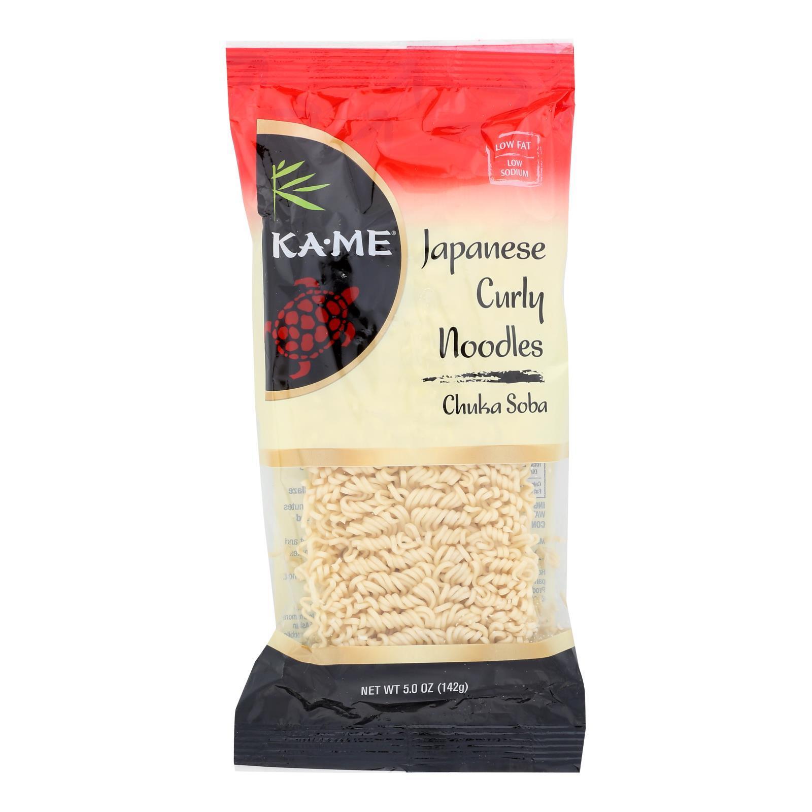 Ka'Me Japanese Curly Noodles - Case of 12 - 5 oz.