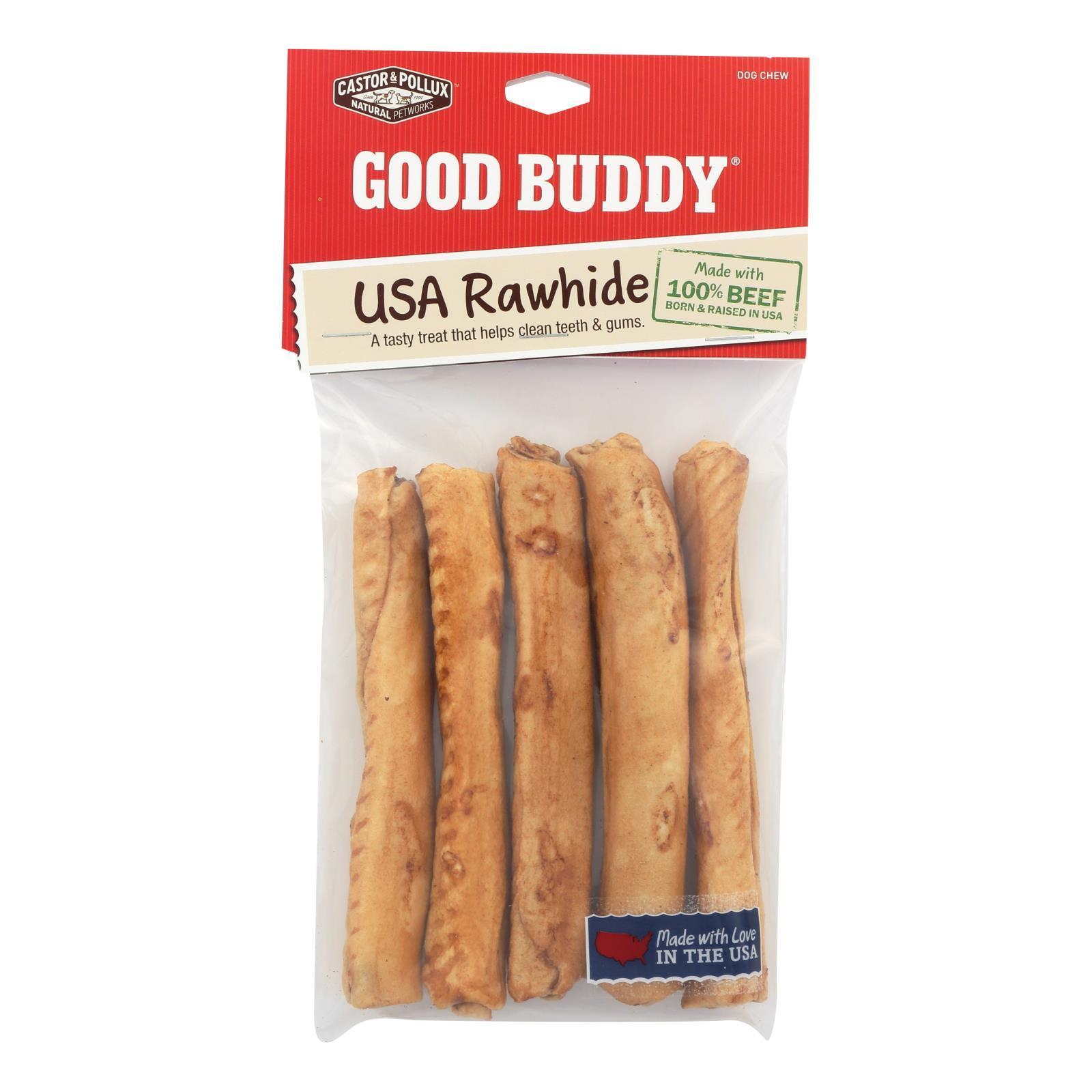 Castor and Pollux Good Buddy Sticks Rawhide Dog Chews - Case of 12
