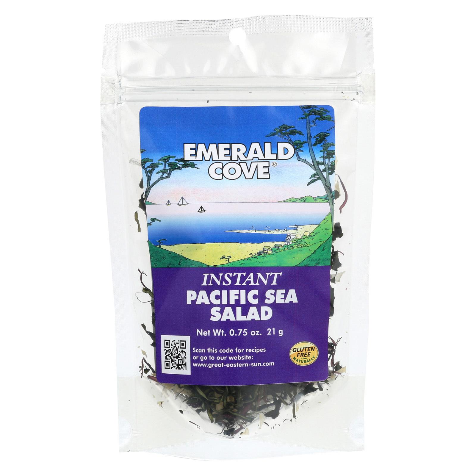 Emerald Cove Instant Pacific Sea Salad - Sea Vegetable - Case of 6 - .75 oz