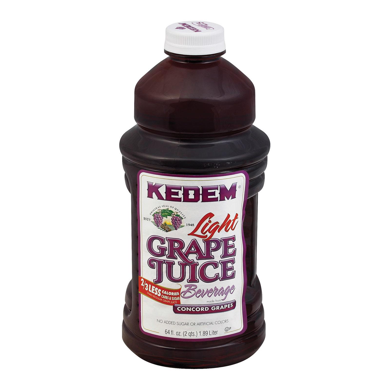 Kedem Lite Grape Juice - Case of 8 - 64 Fl oz.