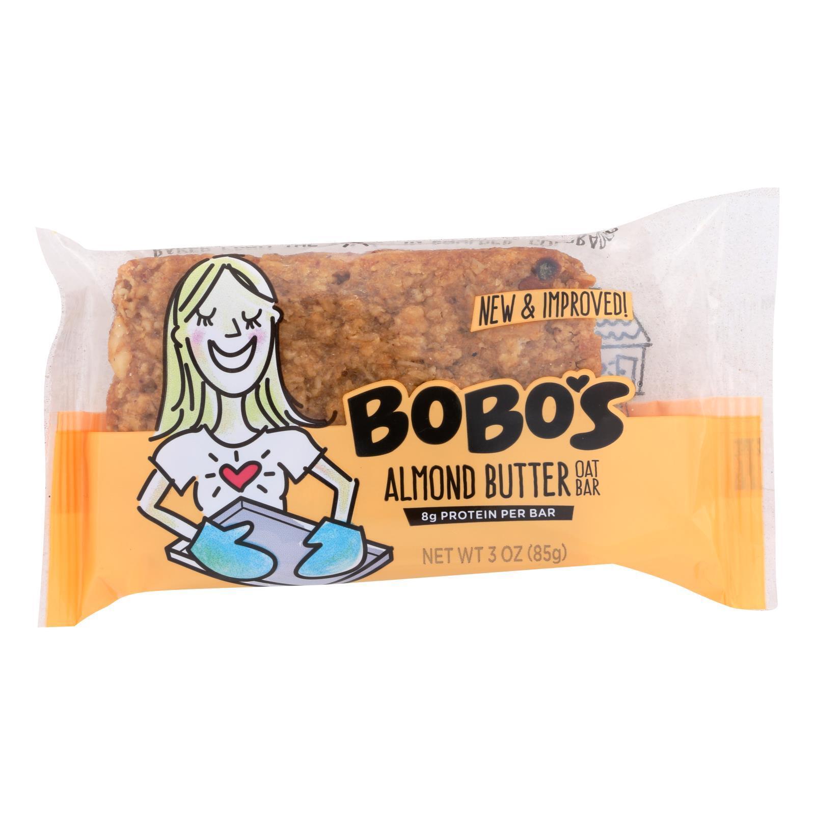 Bobo's Oat Bars - All Natural - Almond - 3 oz Bars - Case of 12