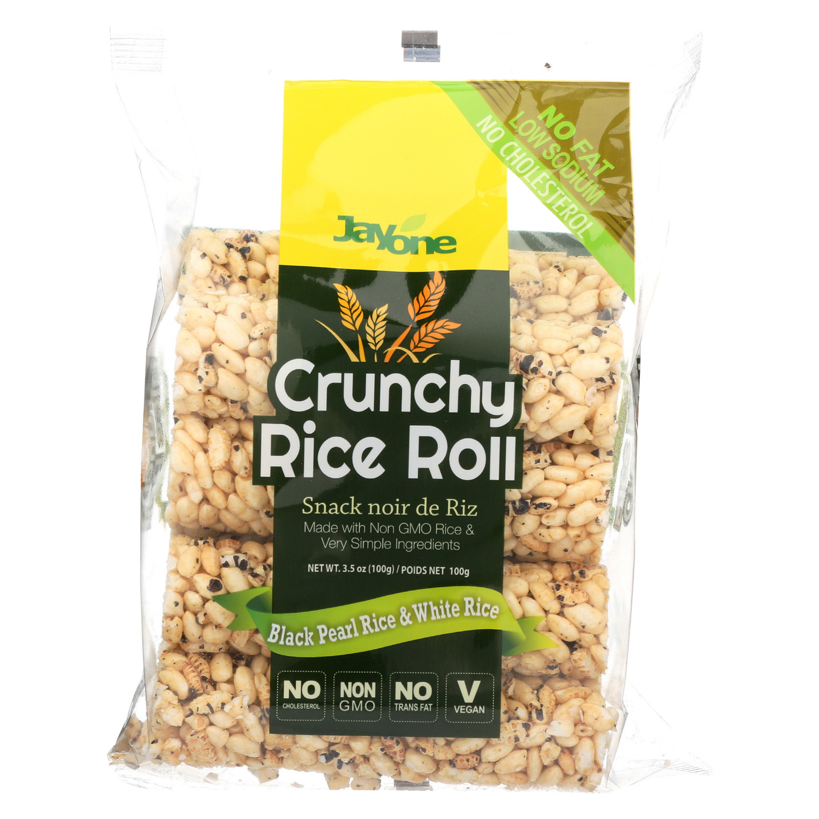 J1 Black Pearl Crunch Rice Roll - Case of 12 - 3.5 oz