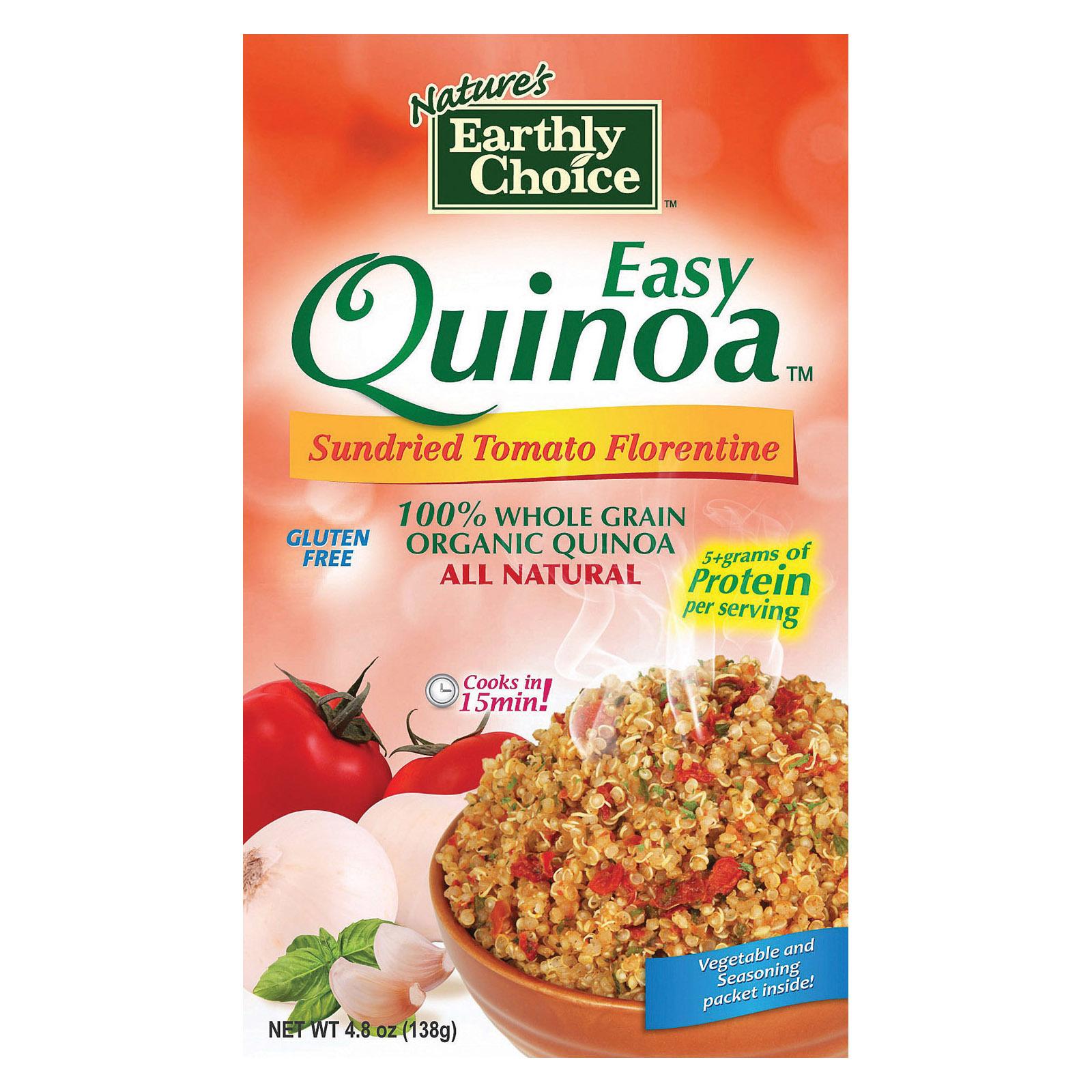 Nature's Earthly Choice Easy Quinoa - Tomato - Case of 6 - 4.8 oz.