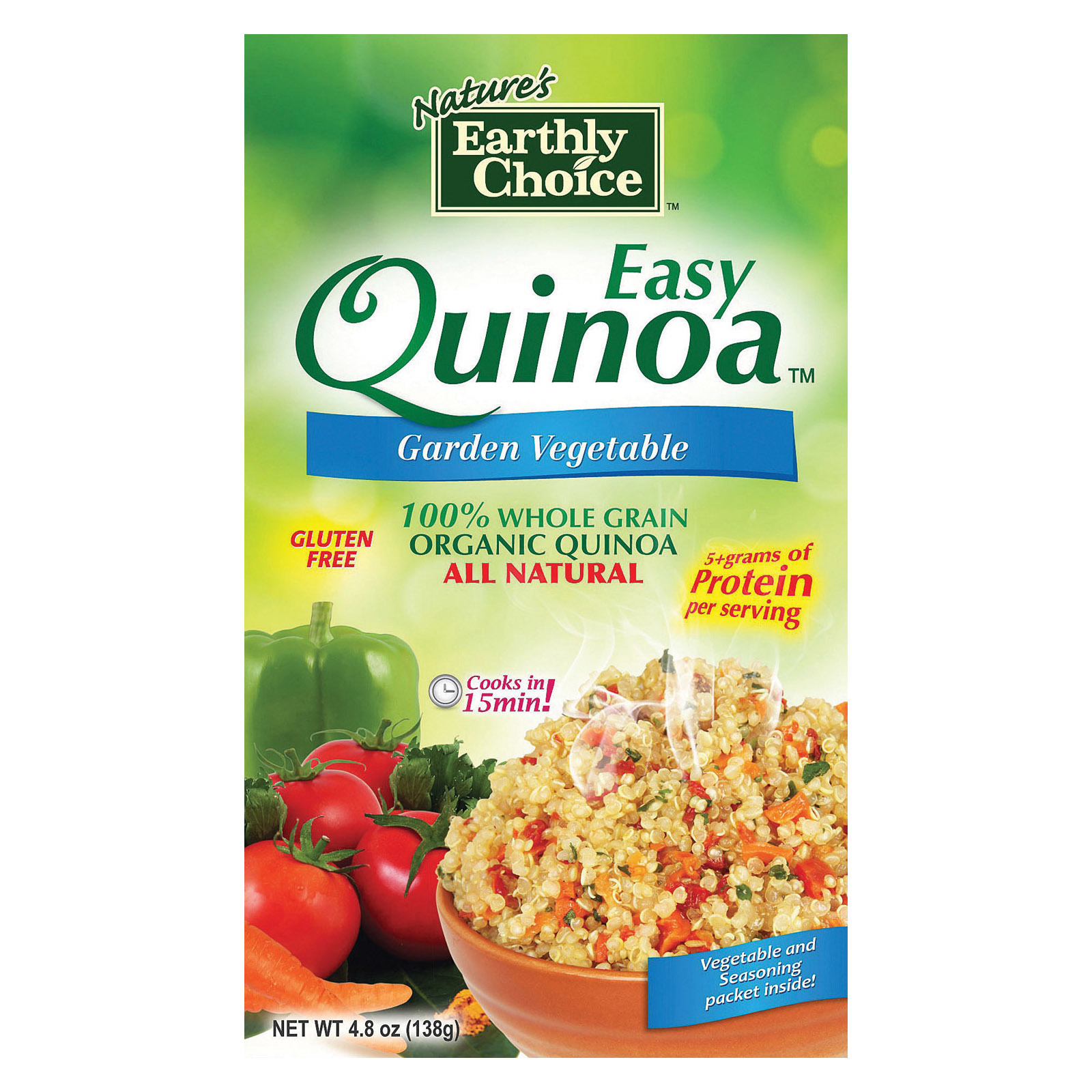 Nature's Earthly Choice Easy Quinoa - Garlic and Herb - Case of 6 - 4.8 oz.