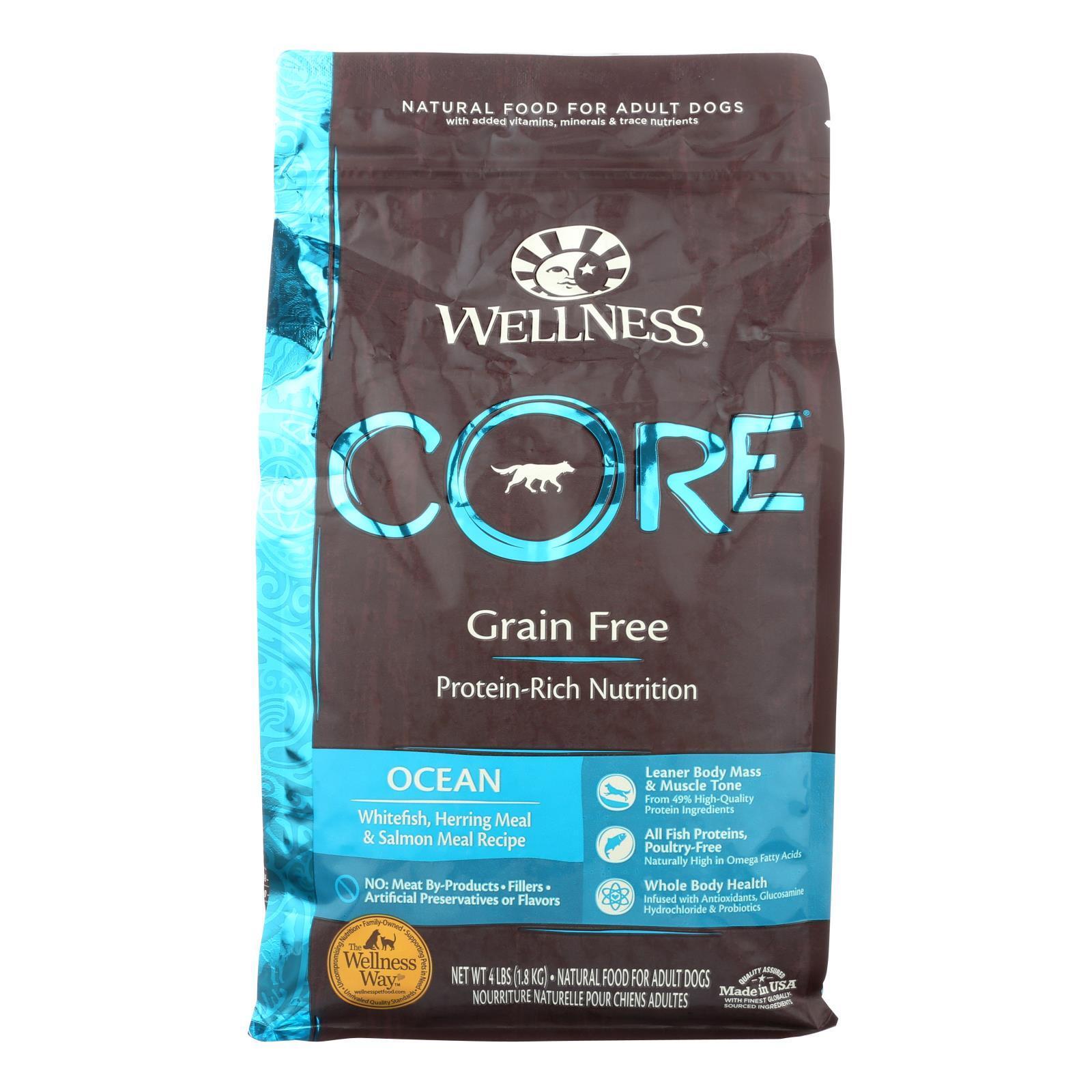 Wellness Pet Products Dog Food - Ocean Formula - Case of 6 - 4 lb.