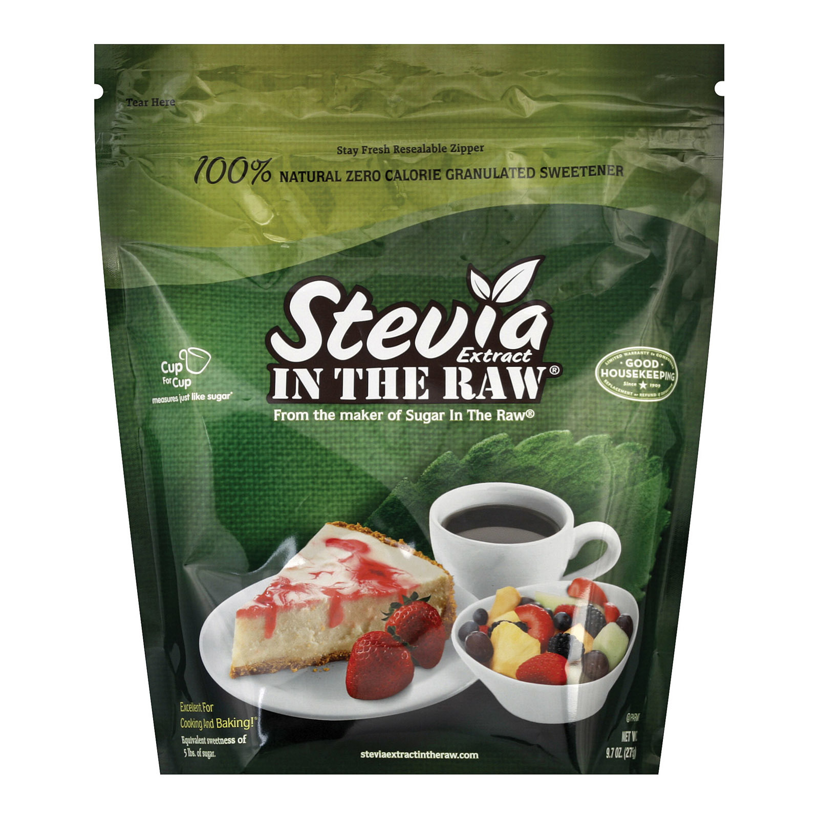 Stevia In The Raw Sweetener - Baker Bag - Case of 6 - 9.7 oz.
