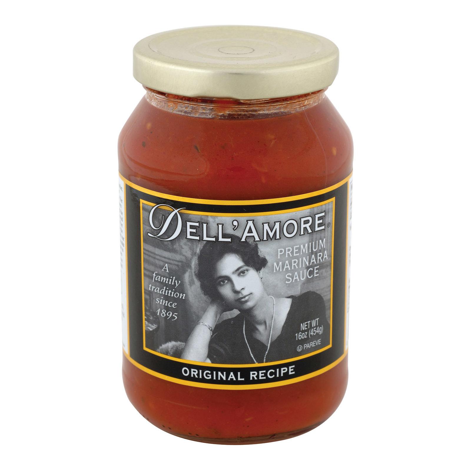Dell Amore Original Marinara Sauce - Case of 12 - 16 fl oz