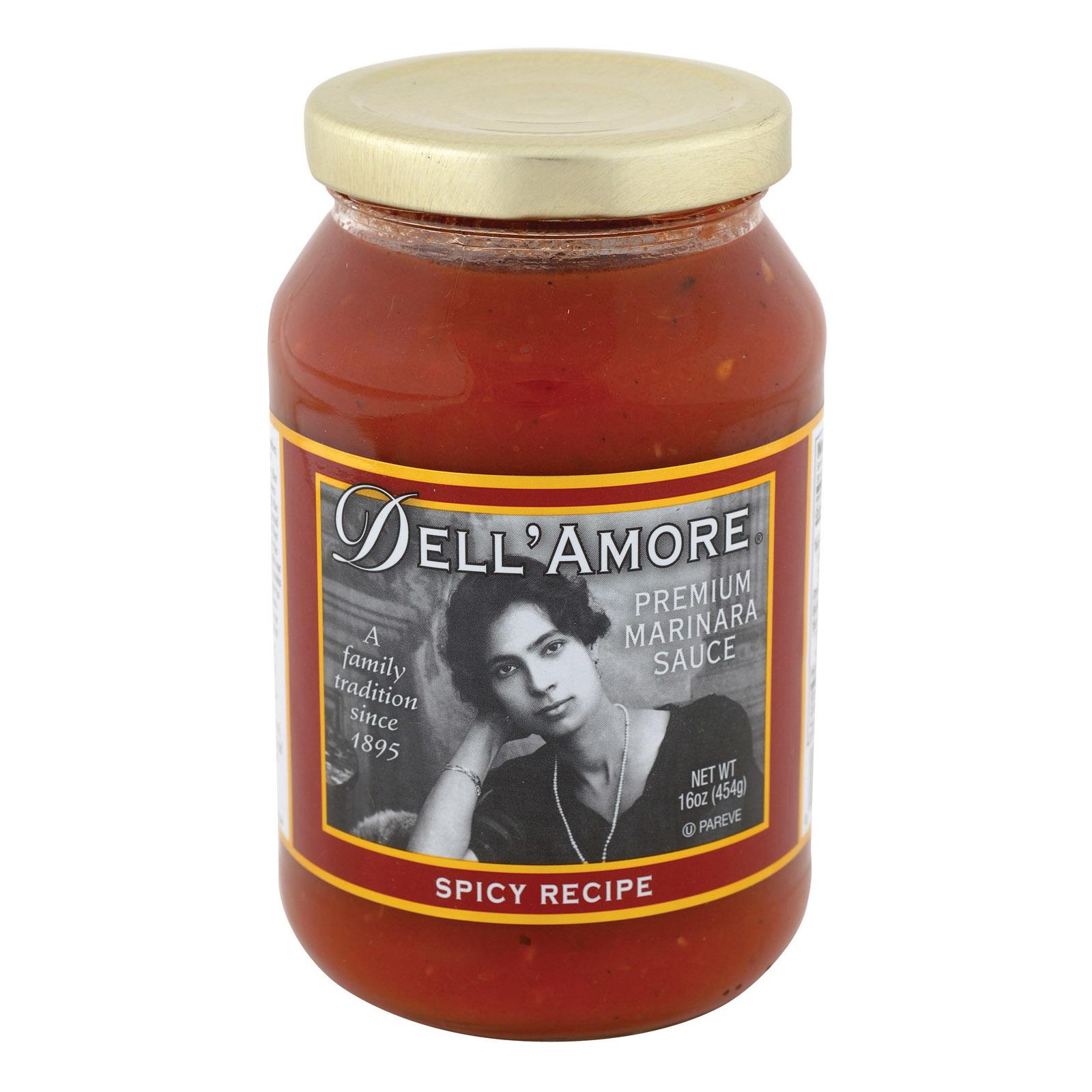 Dell Amore Spicy Marinara Sauce - Case of 12 - 16 fl oz