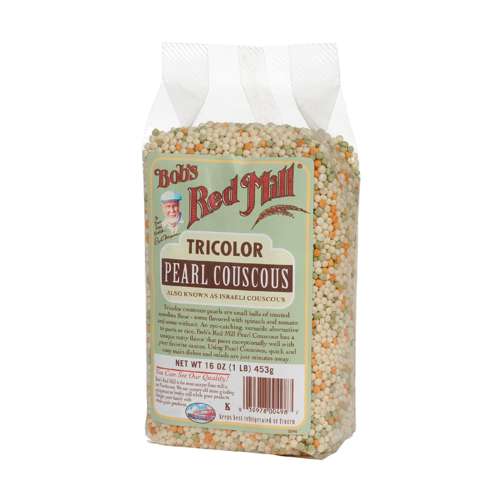 Bob's Red Mill Tri-Color Pearl Couscous - 16 oz - Case of 4