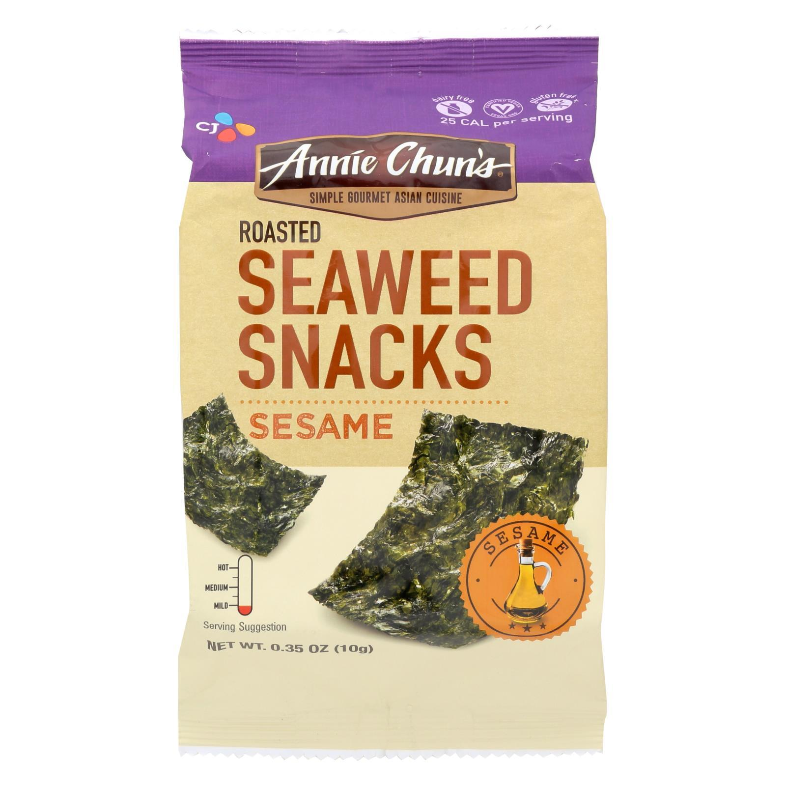 Annie Chun's® Seaweed Snacks Sesame - Case of 0.35 - .35 oz.