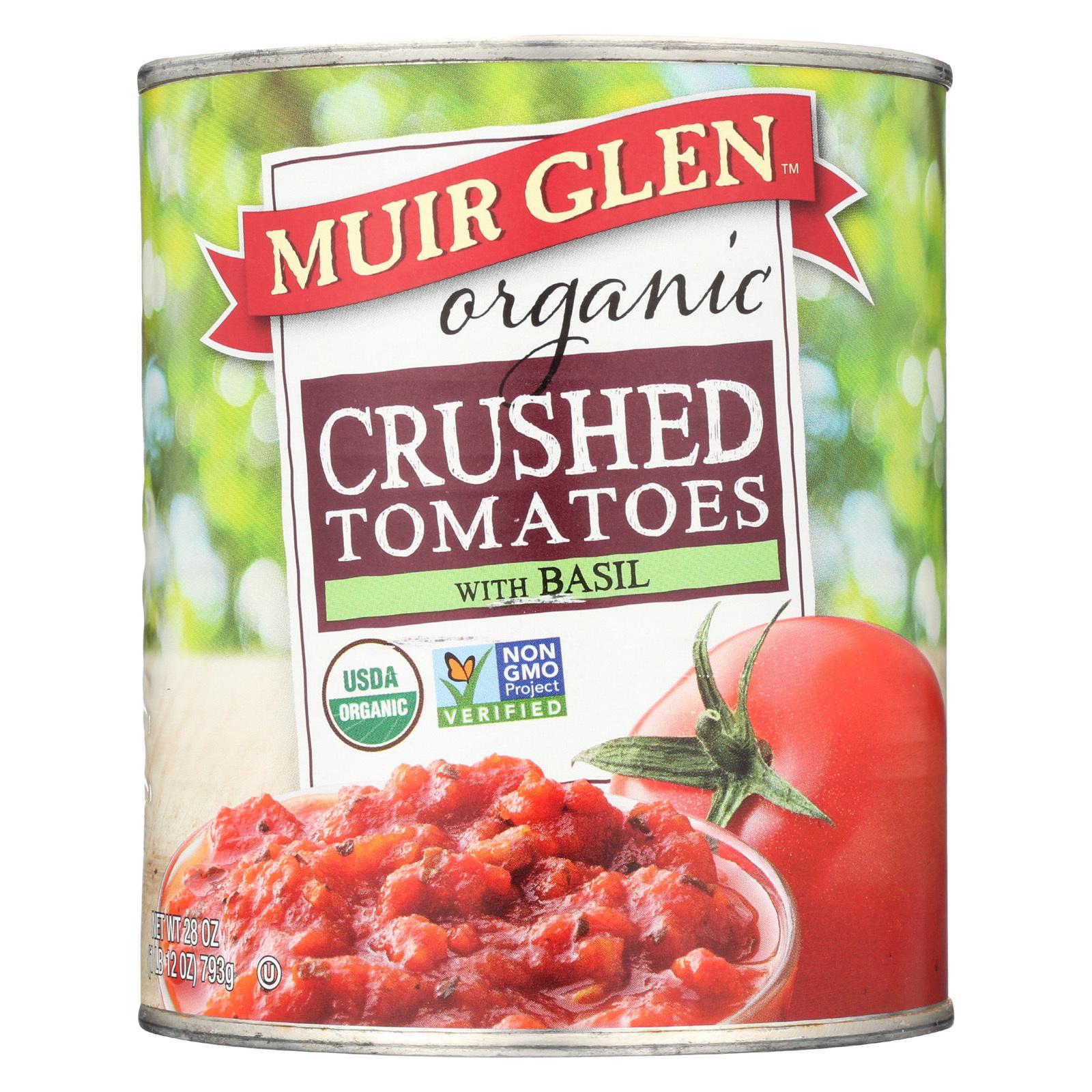 Muir Glen Organic Tomatoes - Crushedwith Basil - 28 oz