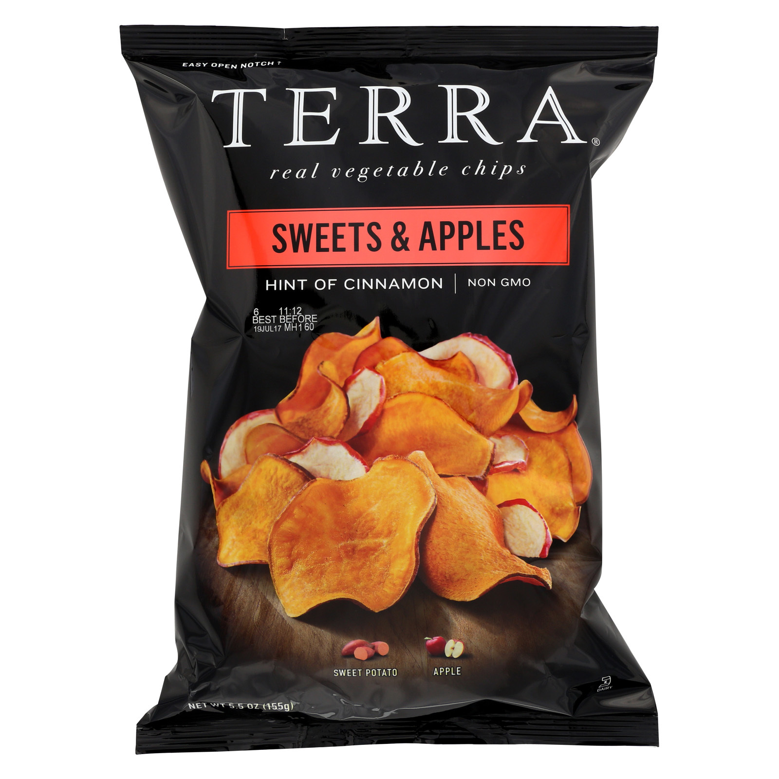 Terra Chips Sweet Potato Chips - Sweets and Apples - Case of 12 - 5.5 oz.