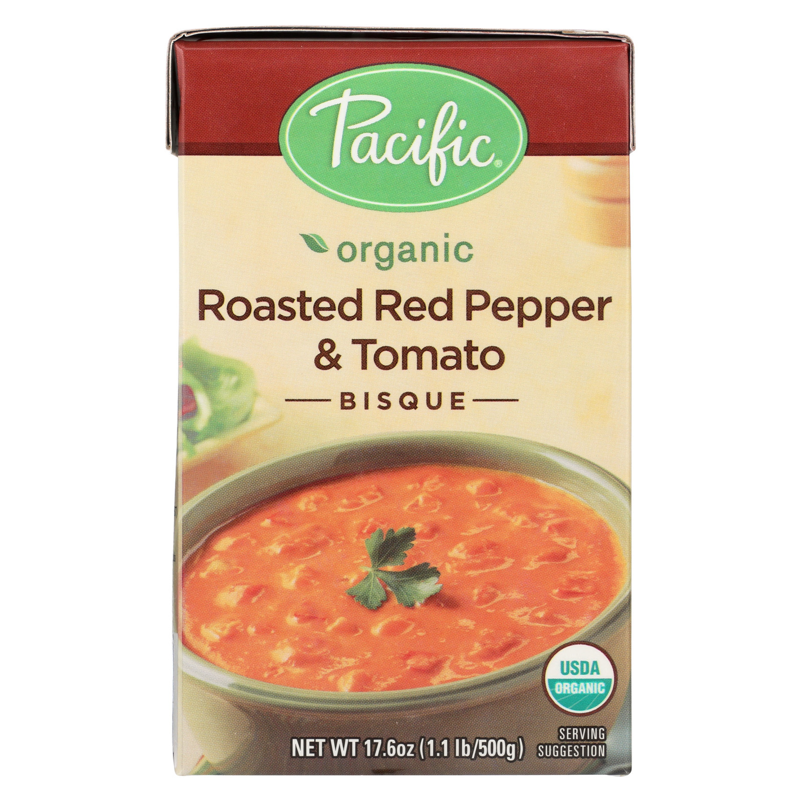 Pacific Natural Foods Bisque - Roasted Red Pepper and Tomato - Case of 12 - 17.6 oz.