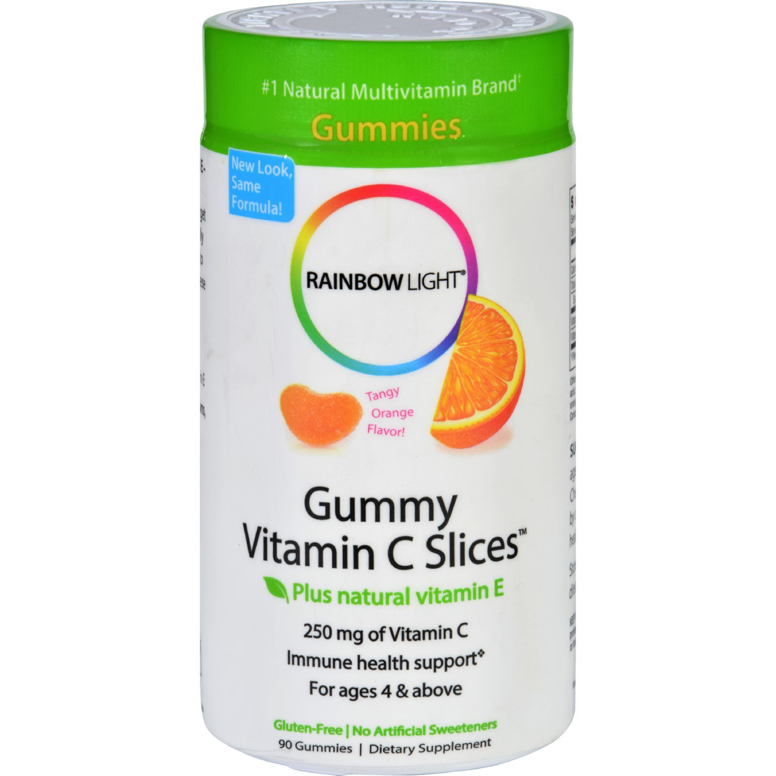 Rainbow Light Gummy Vitamin C Slices Tangy Orange - 250 mg - 90 Gummies Slices