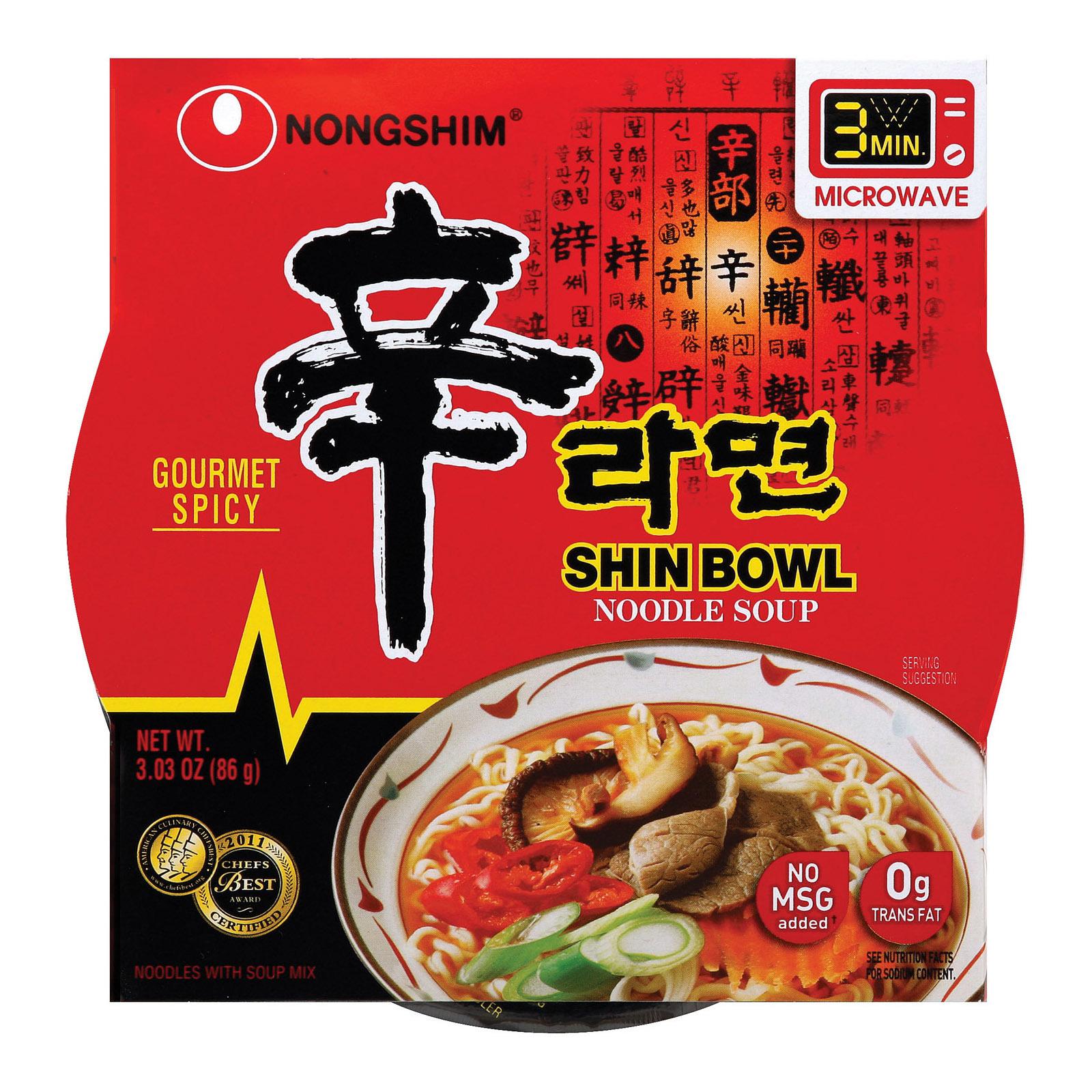 Nong Shim Noodle Soup Bowl - Shin - 3.03 oz.