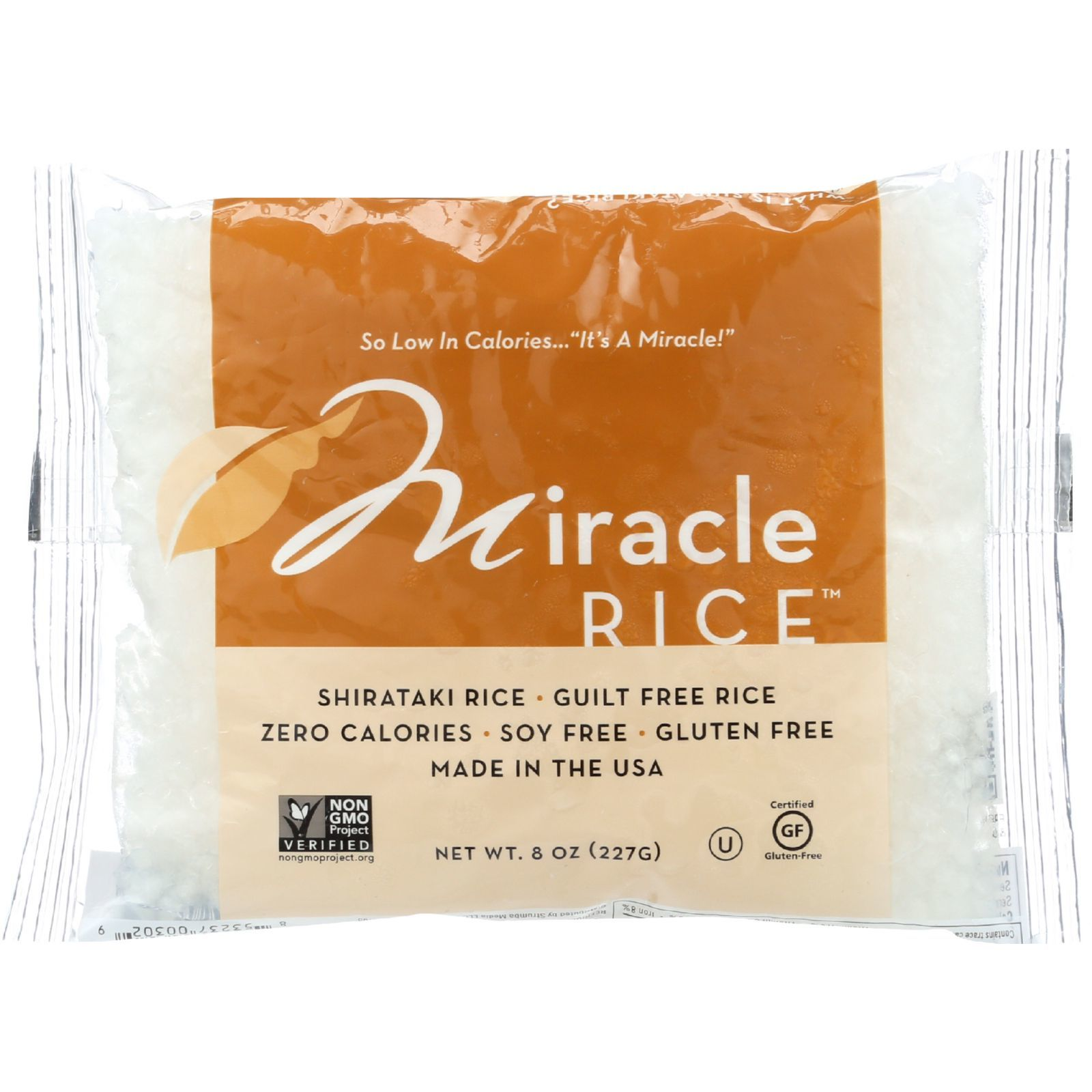 Miracle Noodle Rice - Shirataki - Miracle Rice - 8 oz - case of 6