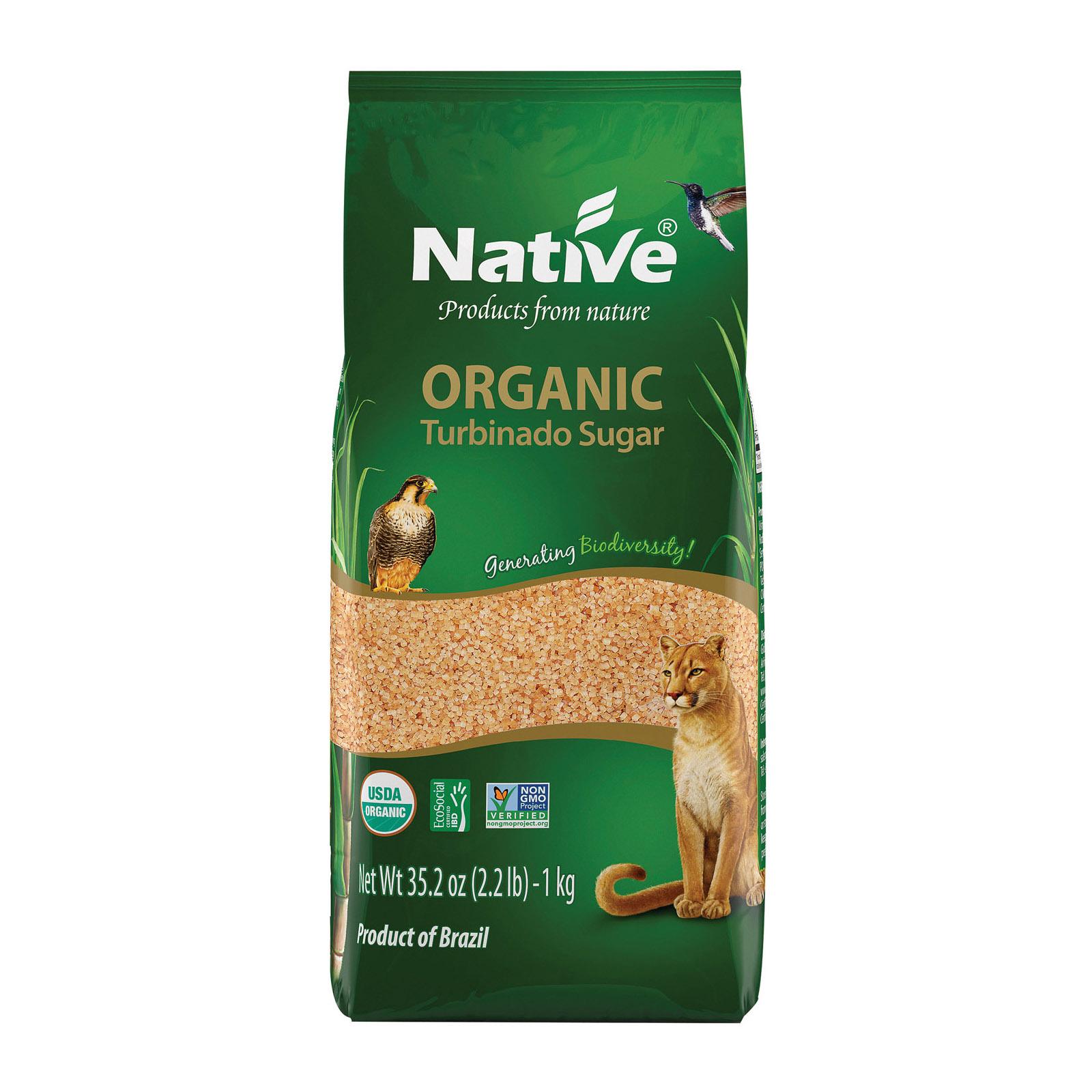 Native Organic Demerara Cane Sugar - Case of 12 - 2.21 lb.