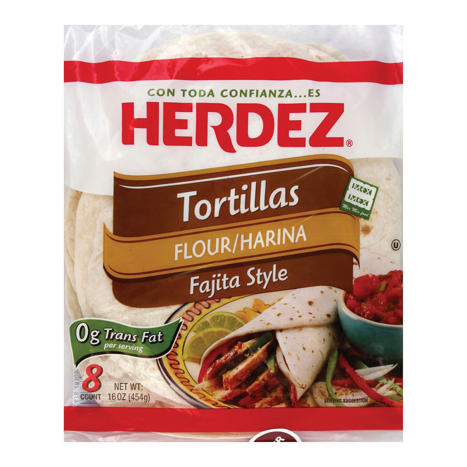 Herdez Tortillas Flour - Fajita Style - Case of 12 - 16 oz.