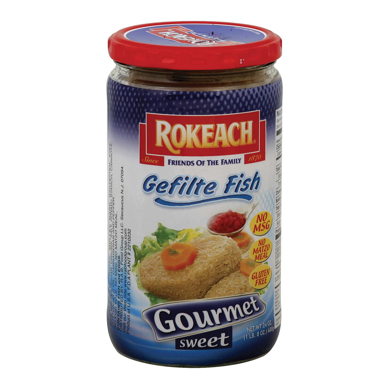 Rokeach Gourmet Sweet Gefilte Fish - Case of 12 - 24 oz.