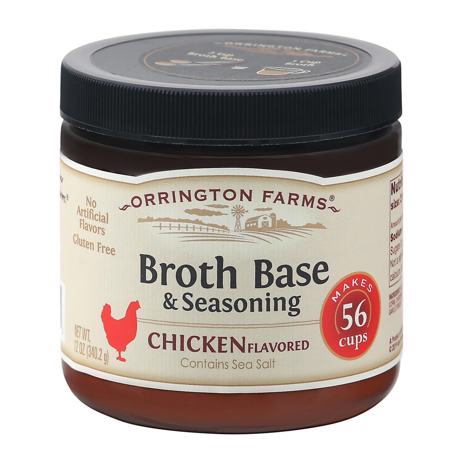Orrington Farms Broth Base and Seasoning - Chicken - Case of 6 - 12 oz.