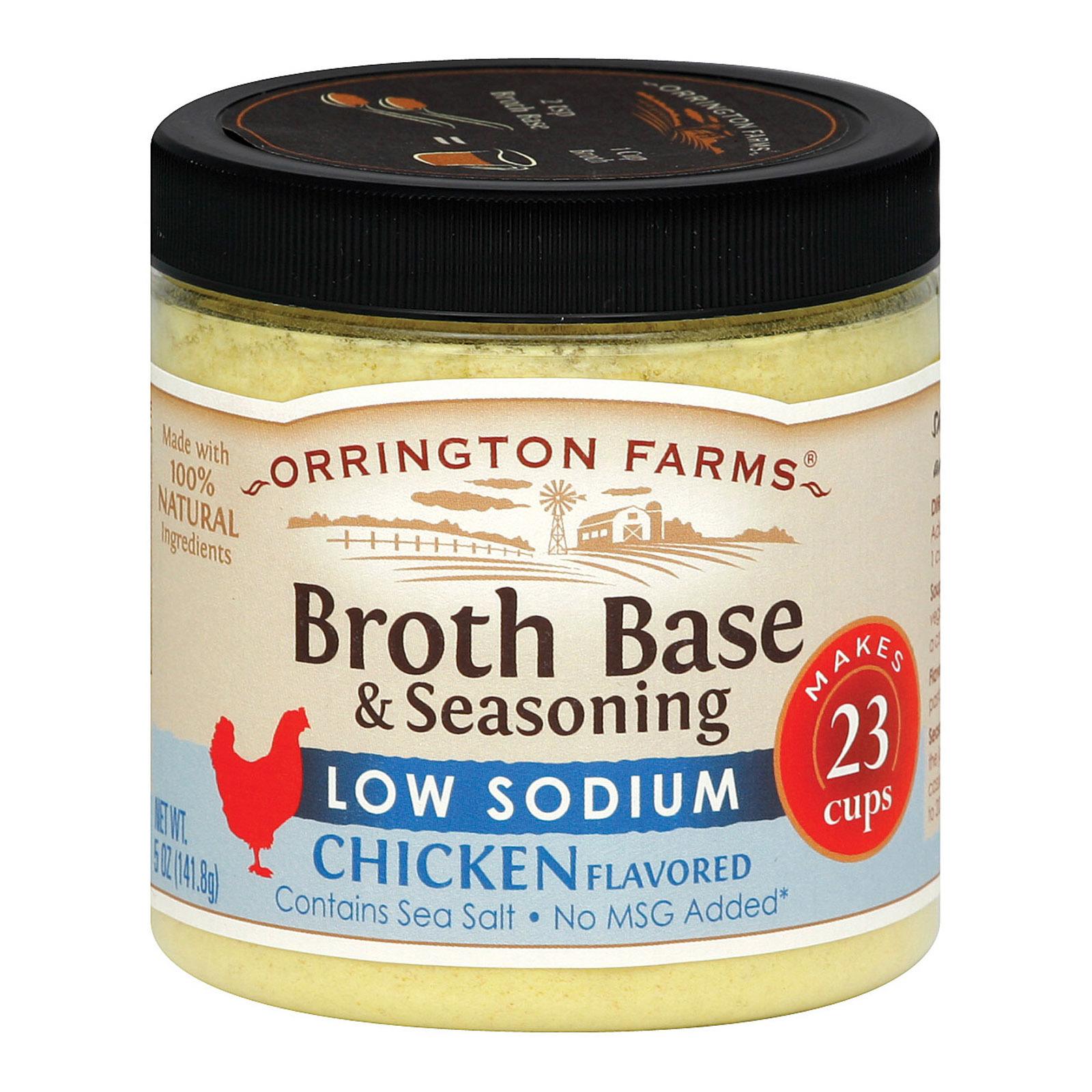 Orrington Farms Low Sodium Broth Base and Seasoning - Chicken - Case of 6 - 5 oz.