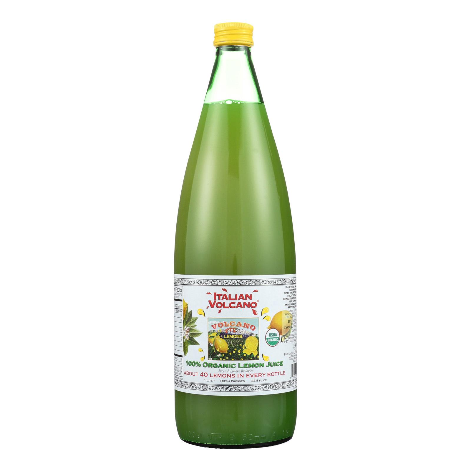 Volcano Bursts Organic Juice - Lemon - Case of 6 - 33.8 Fl oz.