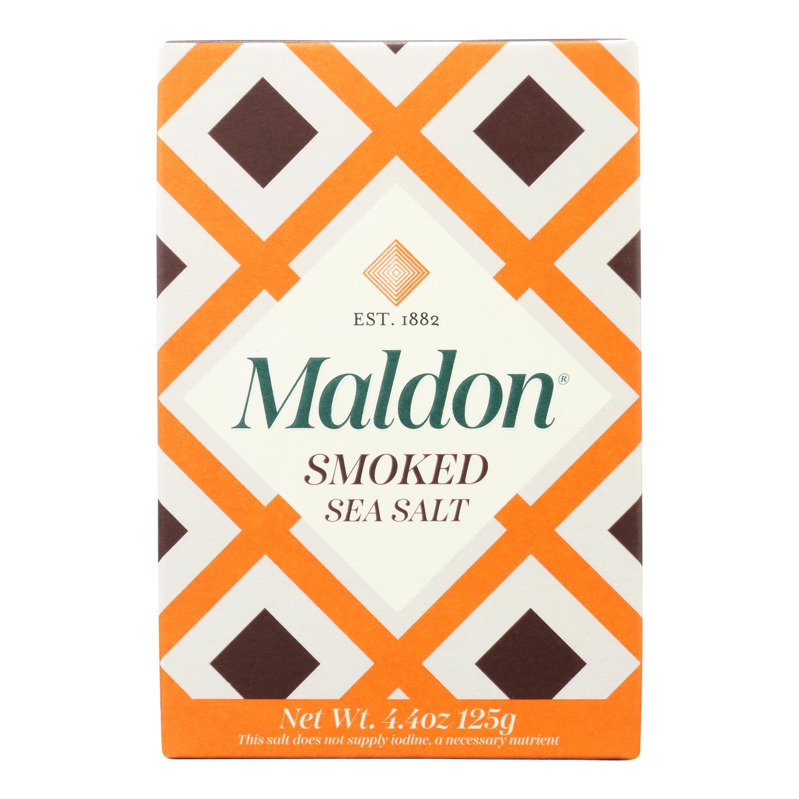 Maldon Flakes - Smoked Sea Salt - Case of 6 - 4.4 oz.