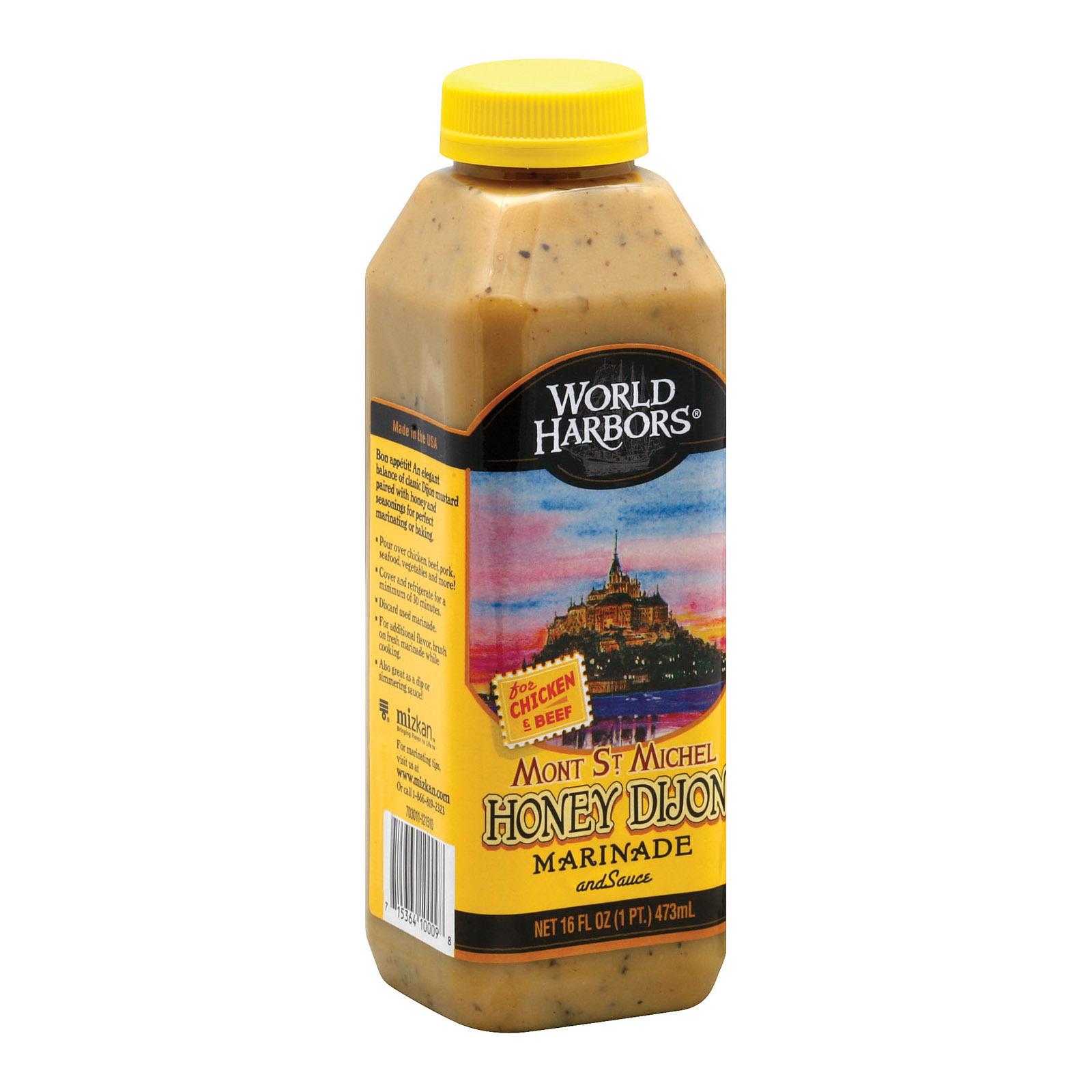 World Harbor Honey Dijon Sauce - Case of 6 - 16 Fl oz.