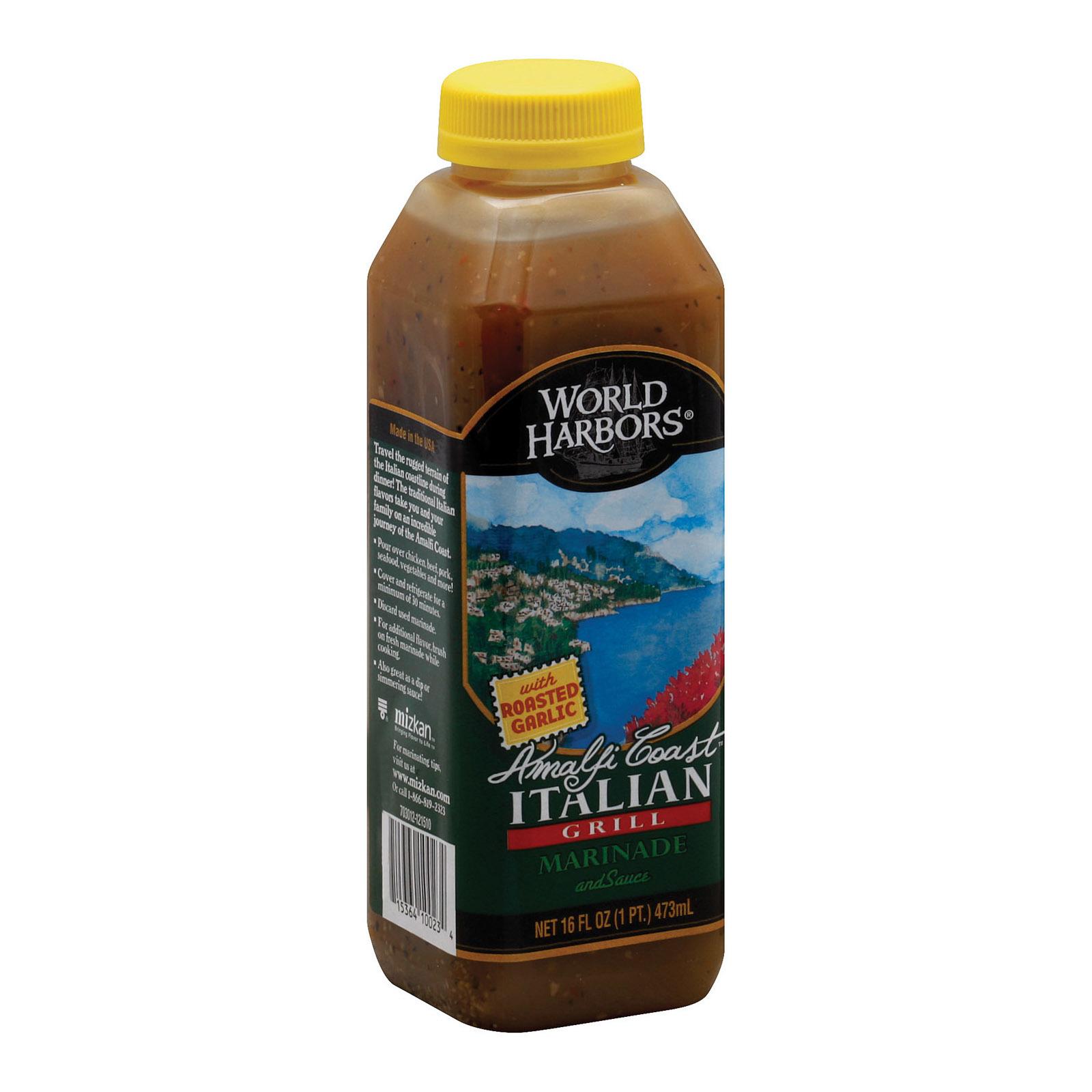 World Harbor Amalfi Coast Marinade and Sauce Italian Grill - Case of 6 - 16 Fl oz.