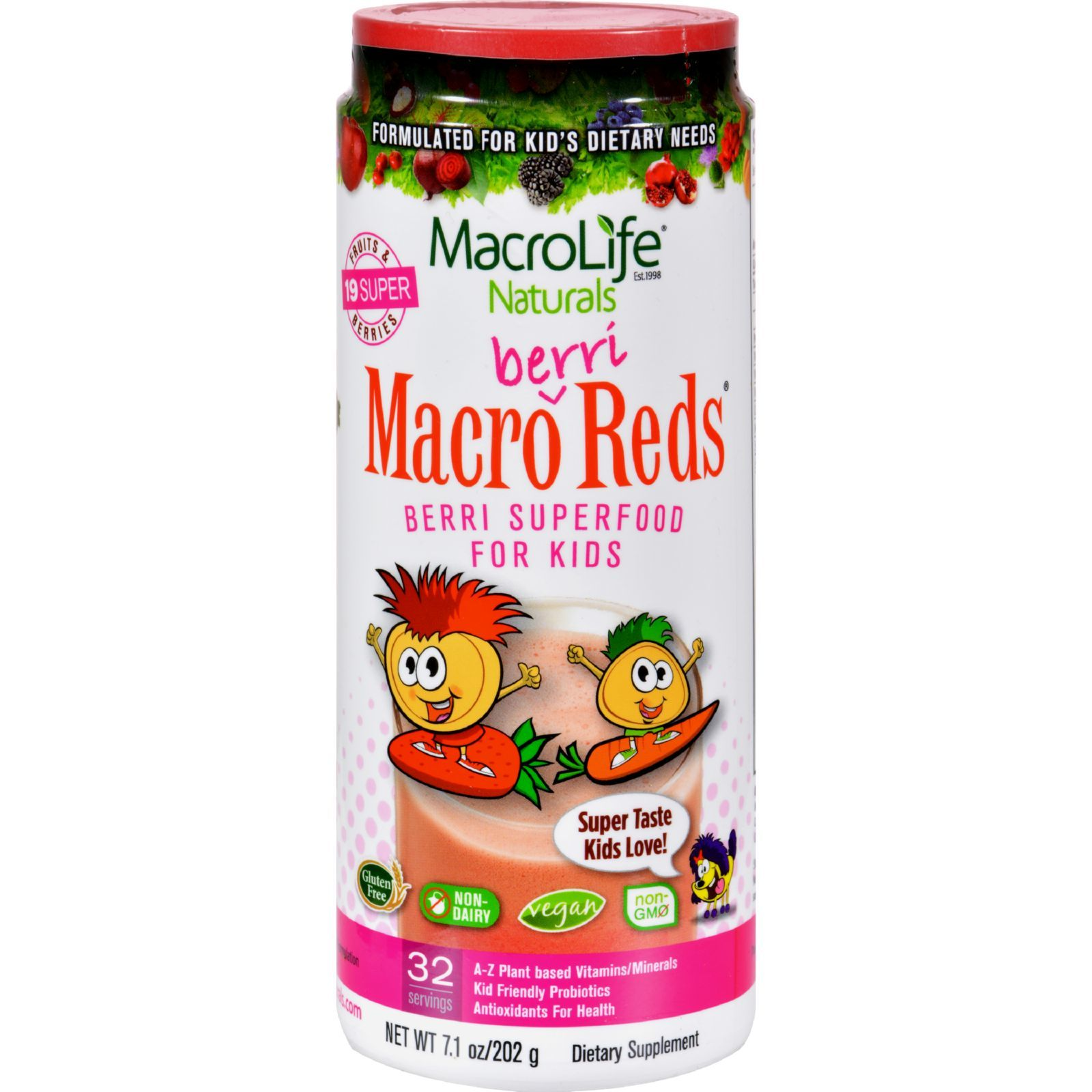 MacroLife Naturals Jr. Macro Reds for Kids Berri - 7.1 oz