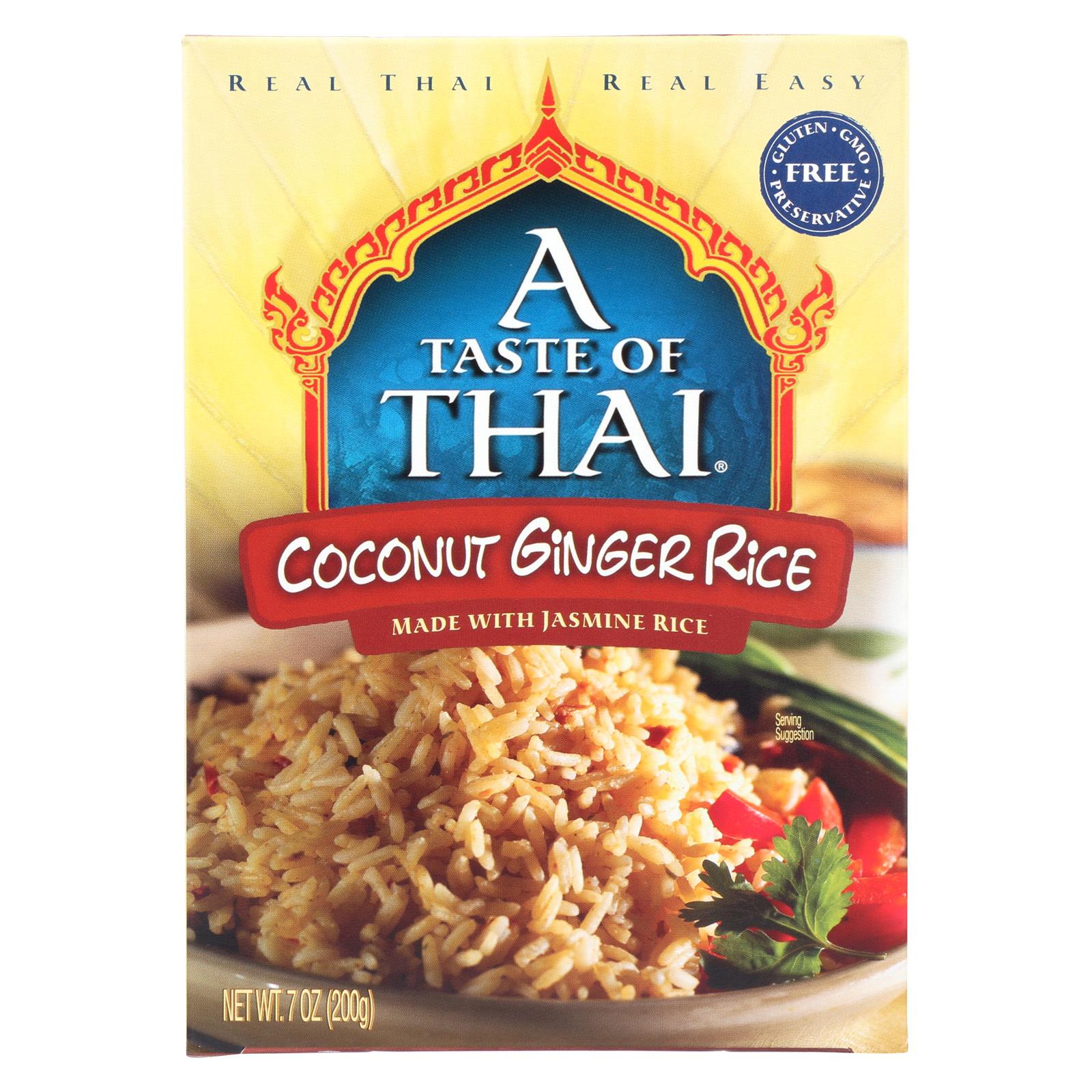 Taste of Thai Coconut Ginger Rice - Case of 6 - 7 oz.