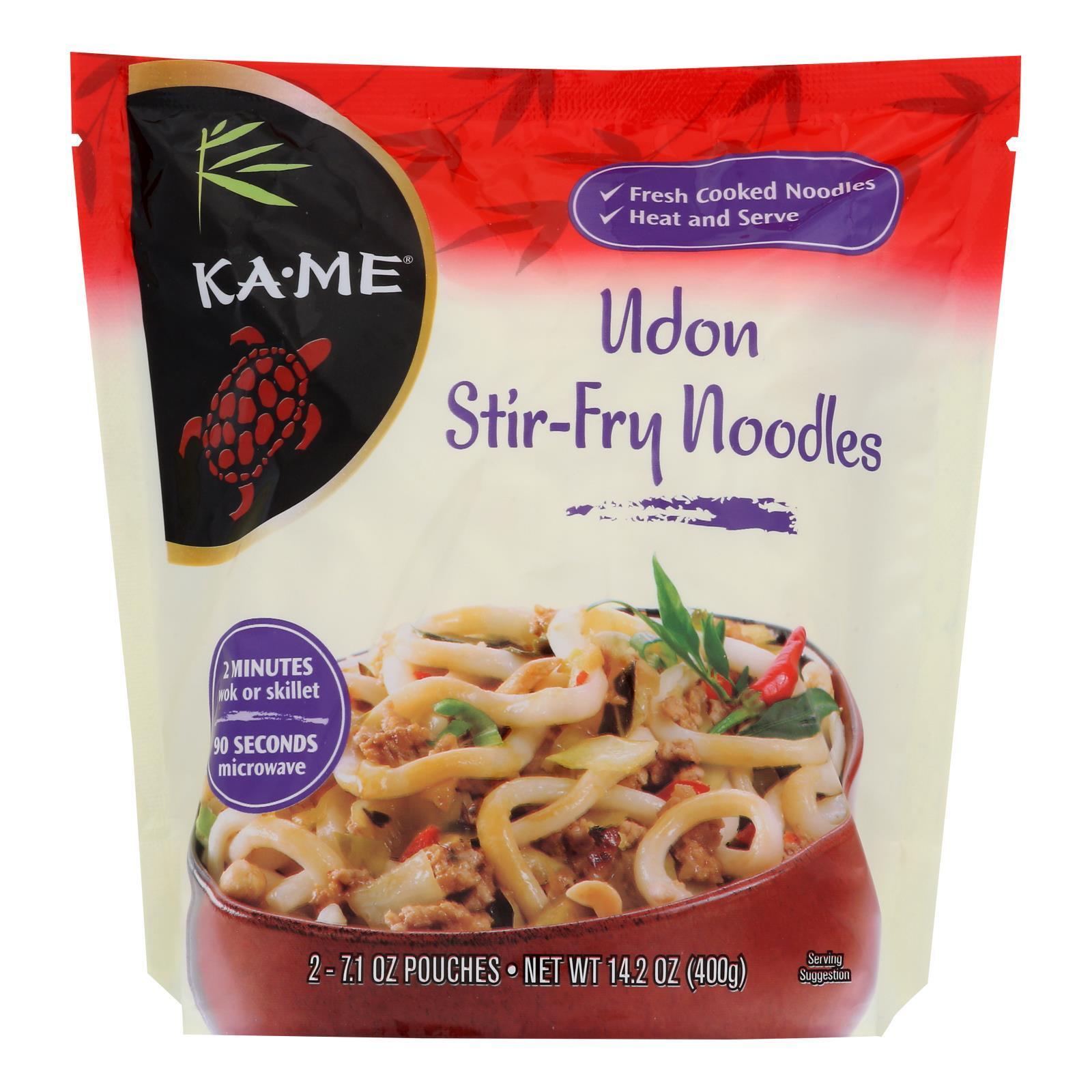 Ka'Me Udon Stir Fry Noodles - Case of 6 - 14.2 oz.