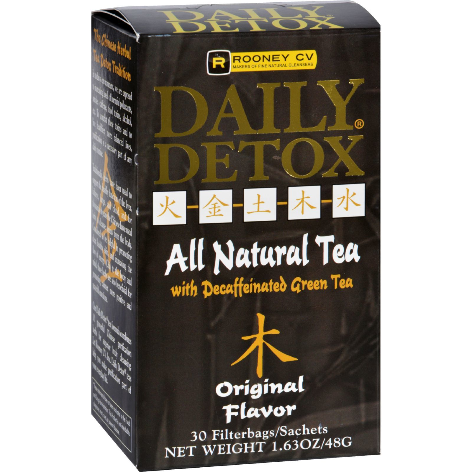 Wellements Rooney CV Daily Detox All Natural Decaffeinated Tea Original - 30 Sachet